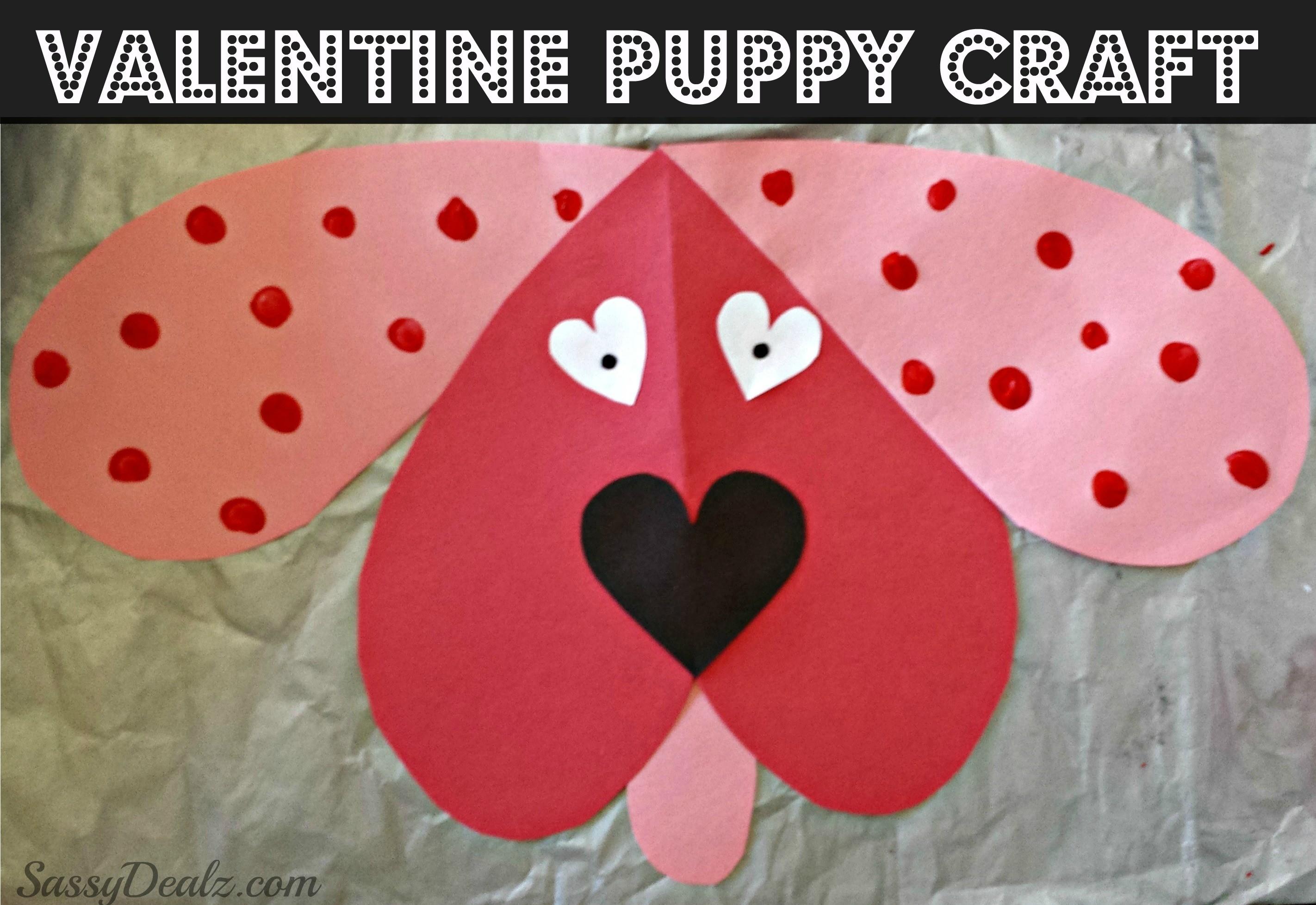 Attractive Crafts For Kids For Valentines Day Part – 13: Valentine Dog Craft