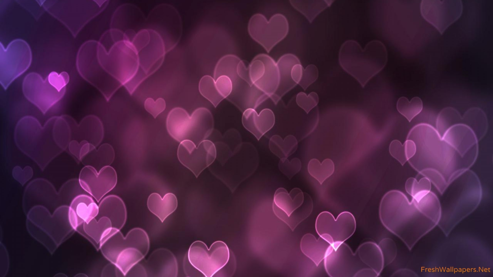purple-hearts-love Wallpaper: 1920×1080