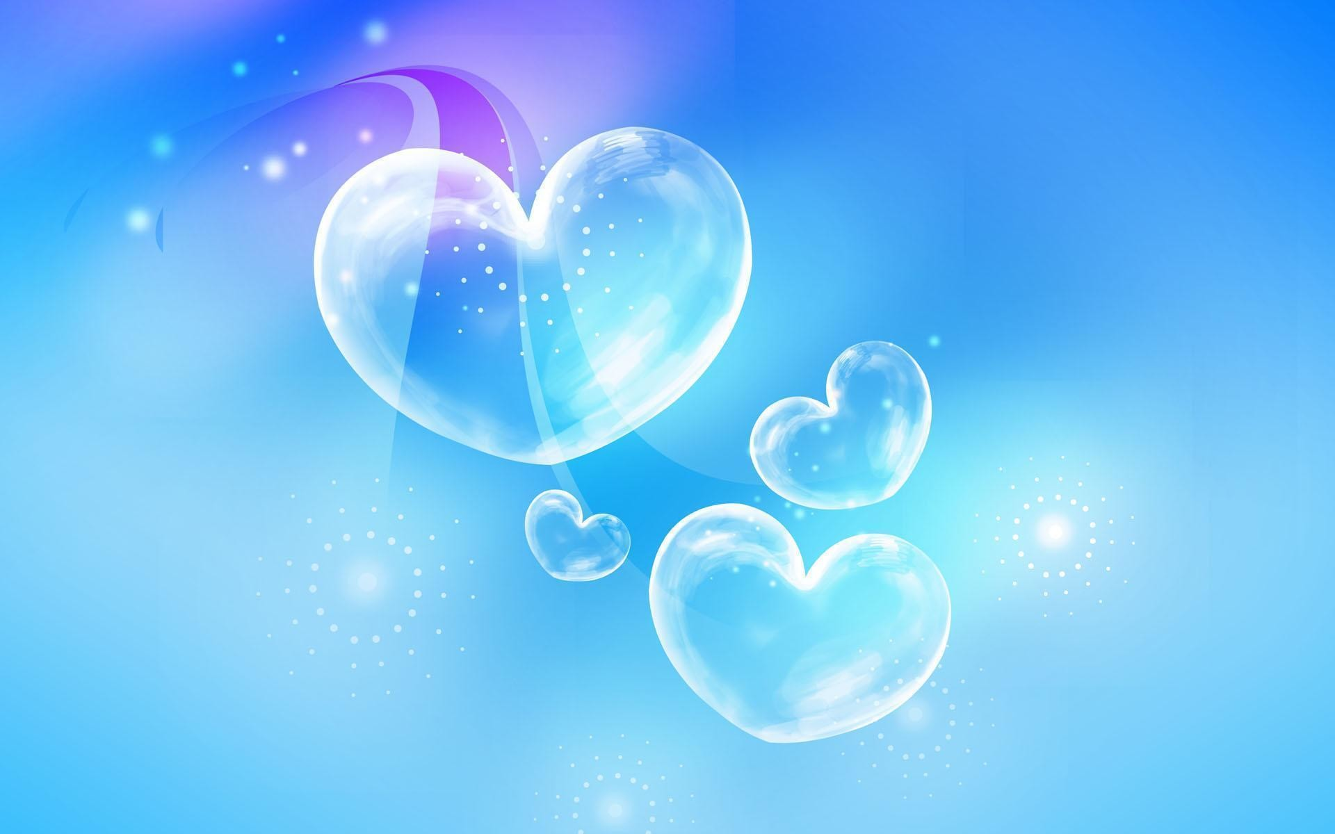 Blue Hearts Background Wallpaper
