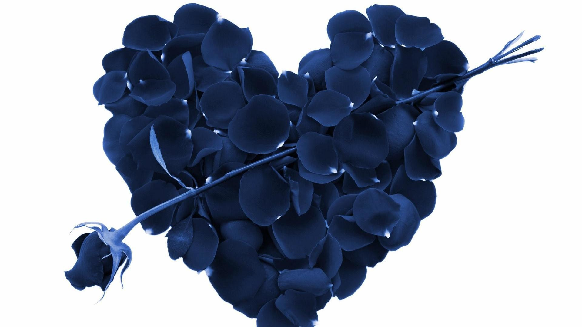 Blue Love Hearts Wallpaper Free HD