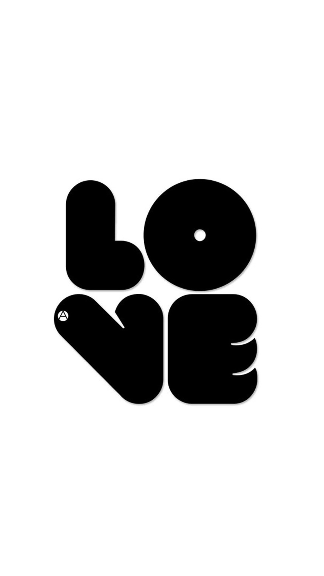 Black LOVE Sony Xperia Z2 Wallpapers
