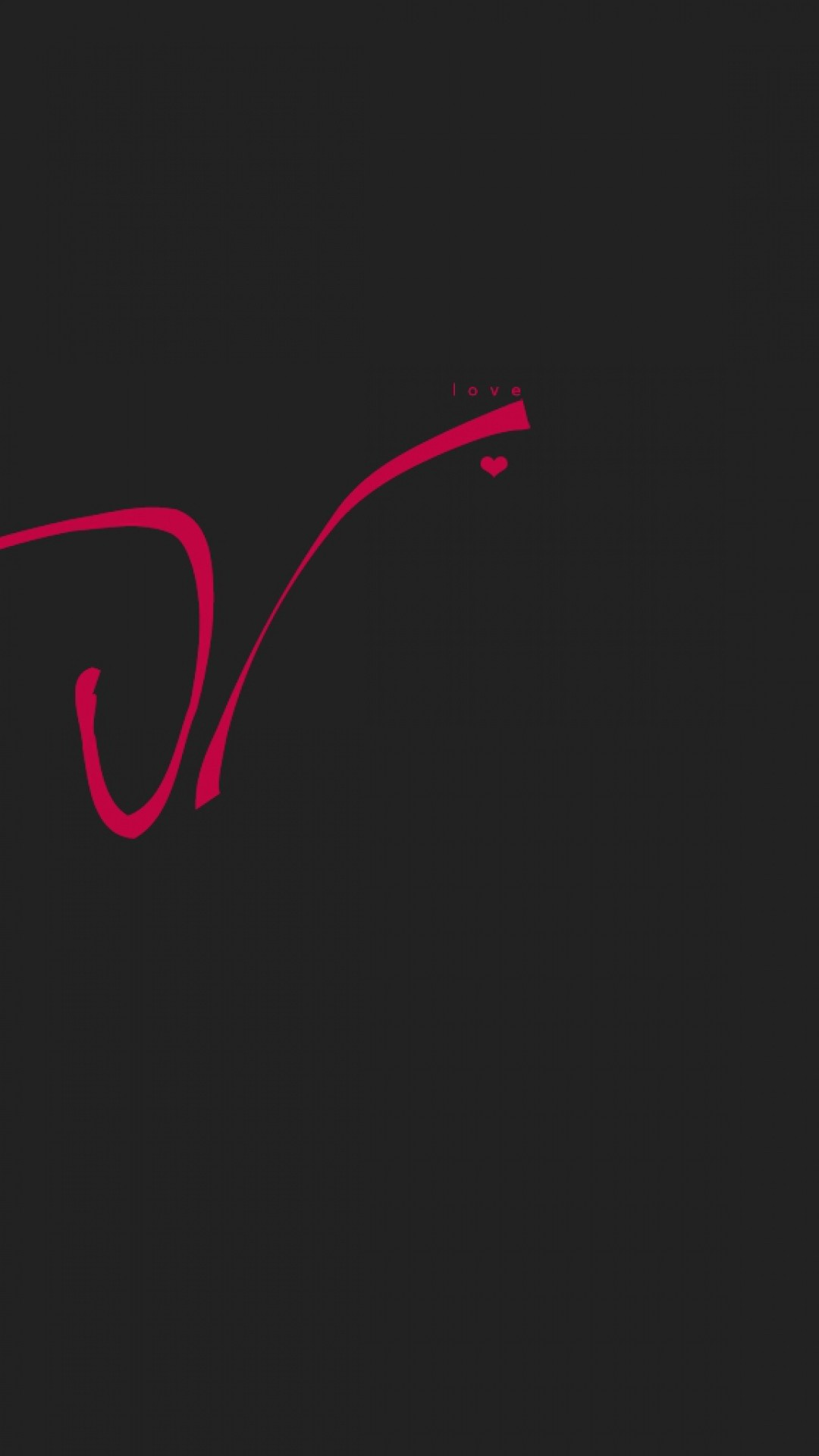 Preview wallpaper love, drawing, line, red, inscription, black 1080×1920
