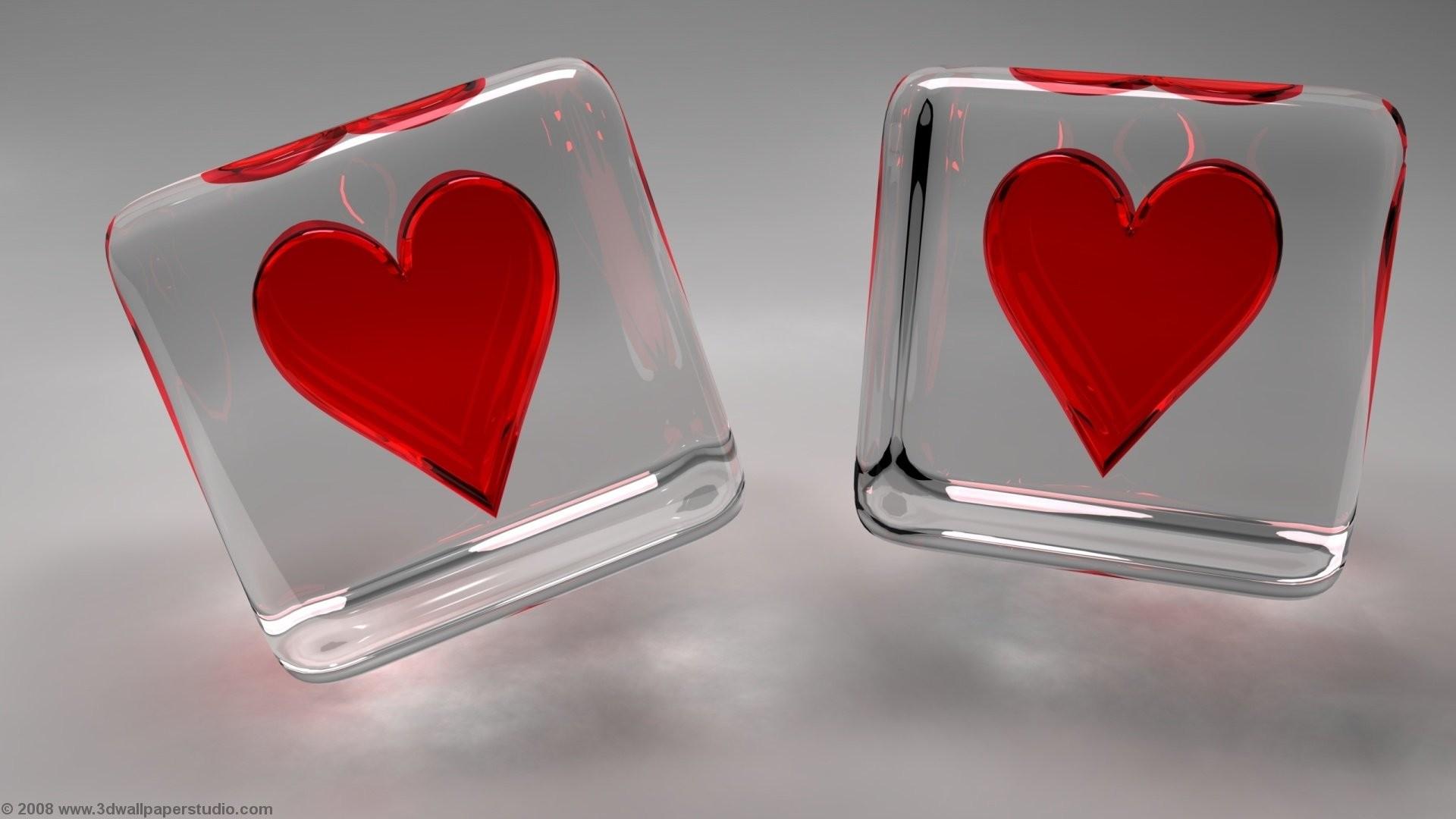 Valentine hearts wallpaper in screen resolution