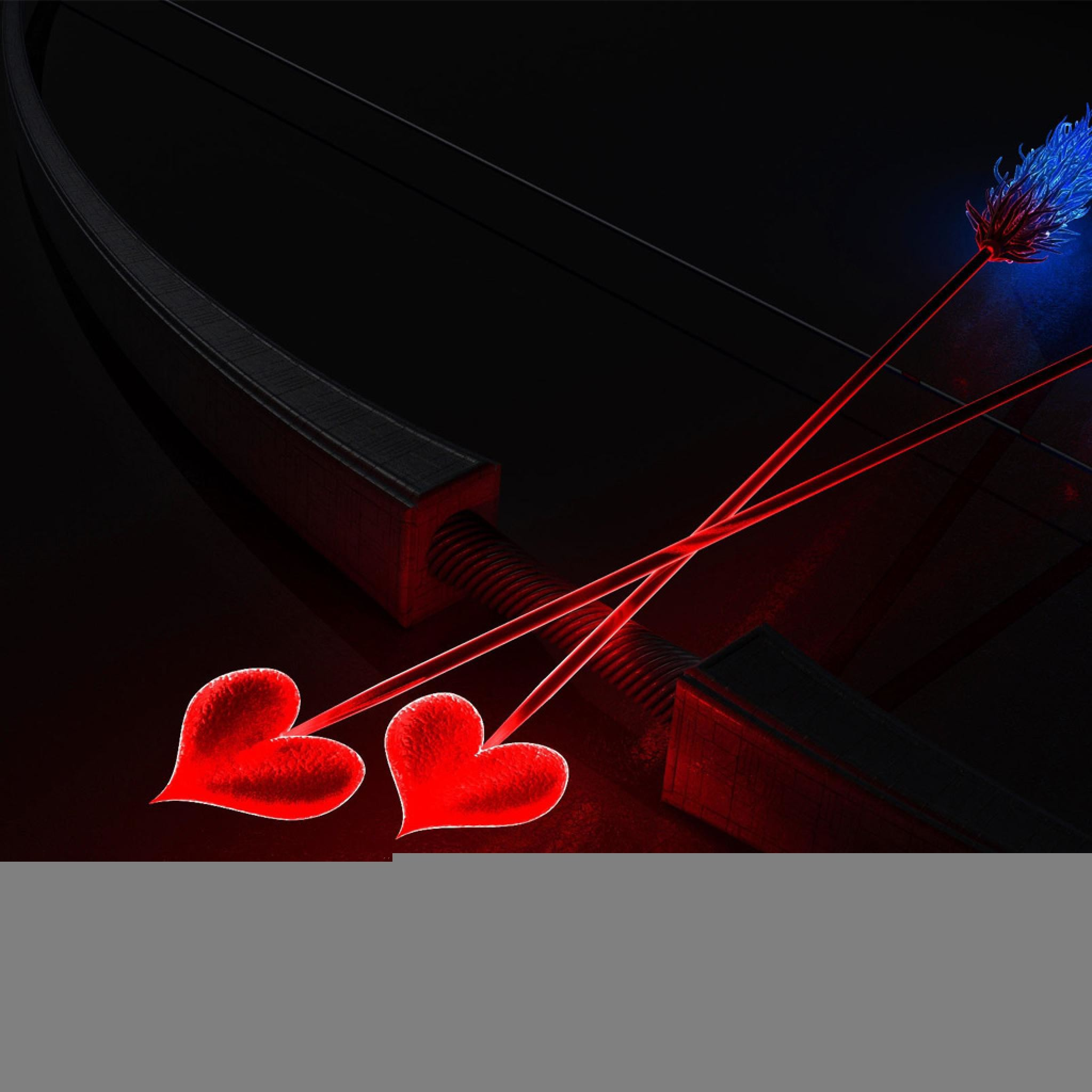 925 1: Valentine Arrows Heart Shaped iPad wallpaper