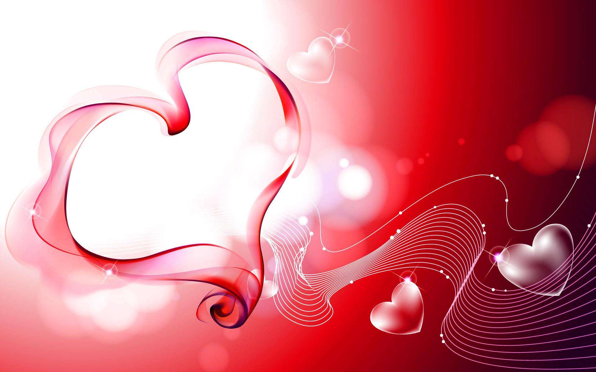 floral 3d pink valentine heart HD wallpaper Wallpaper