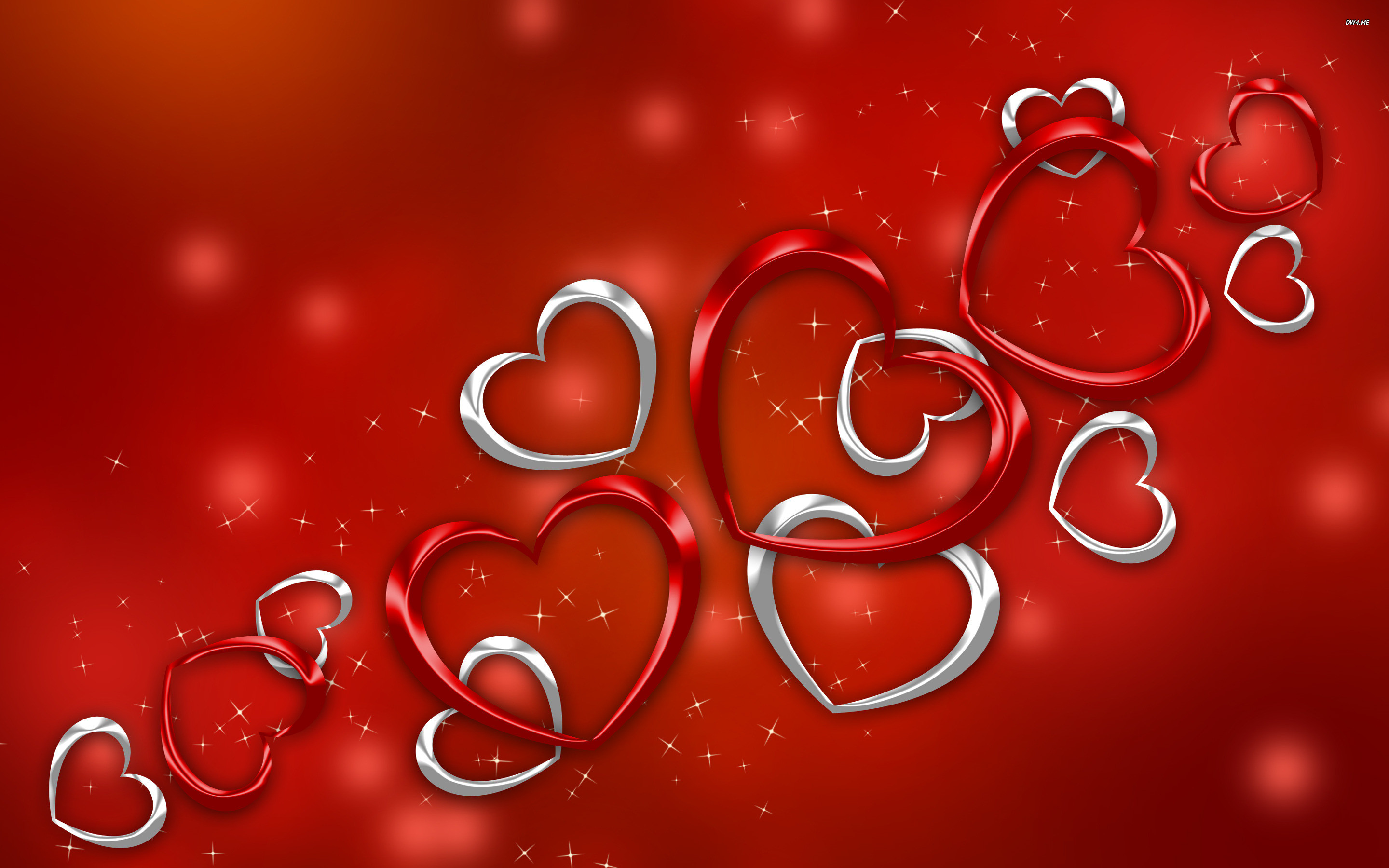 Red and silver hearts wallpaper – Holiday wallpapers – #2110