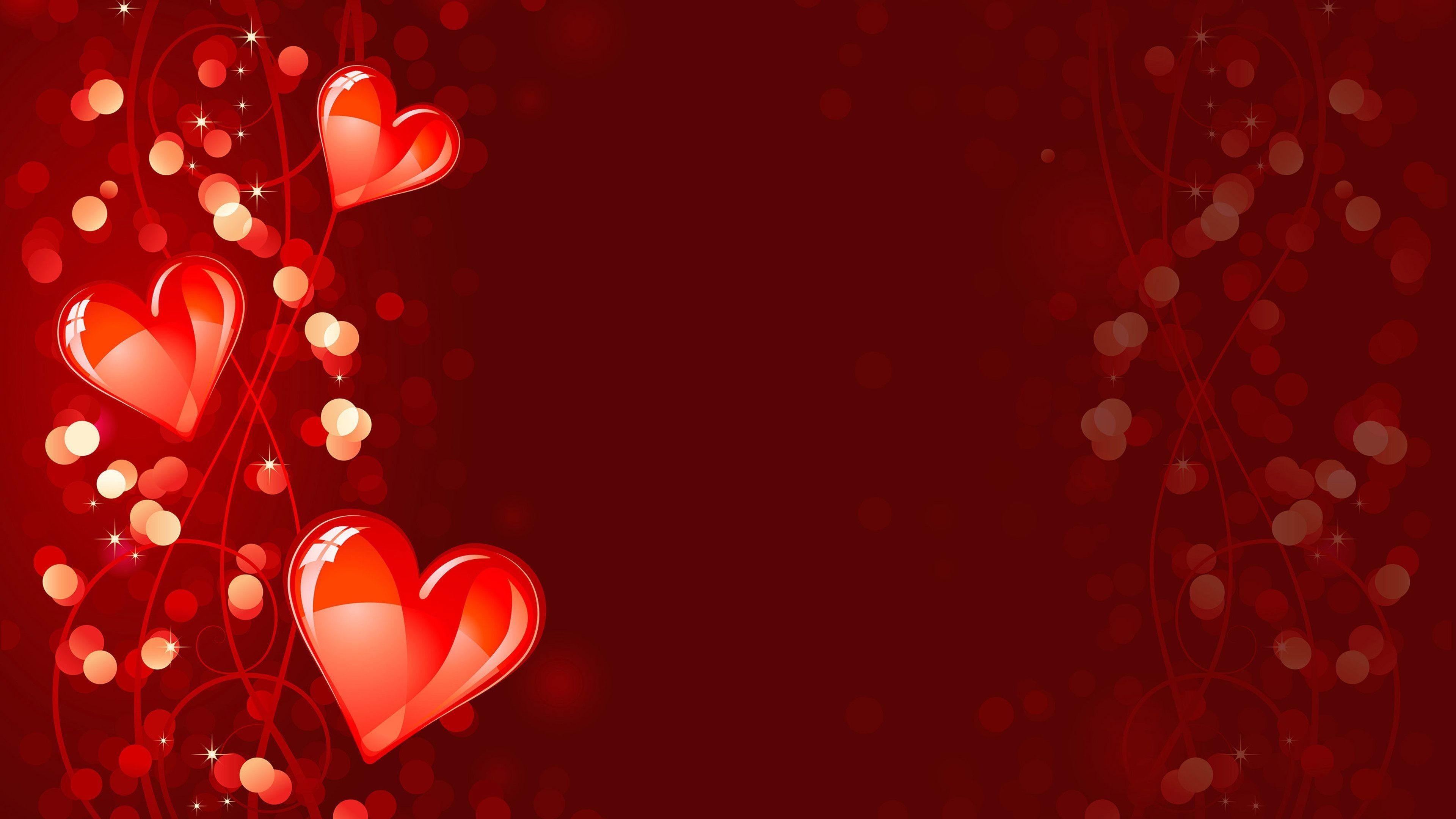 Red Heart Art Water Splash Love Wallpaper – HD Wallpapers & 4K .