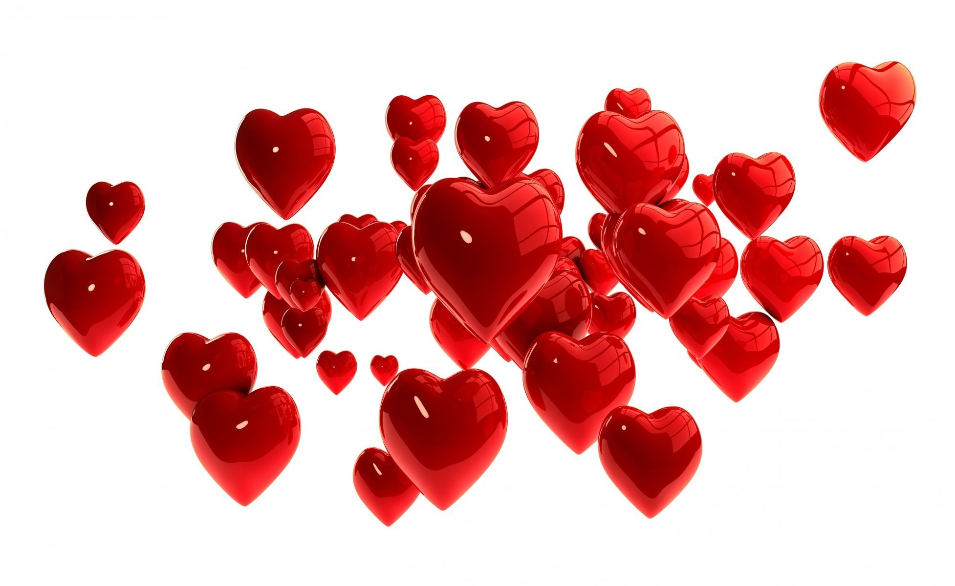 3d hearts red heart