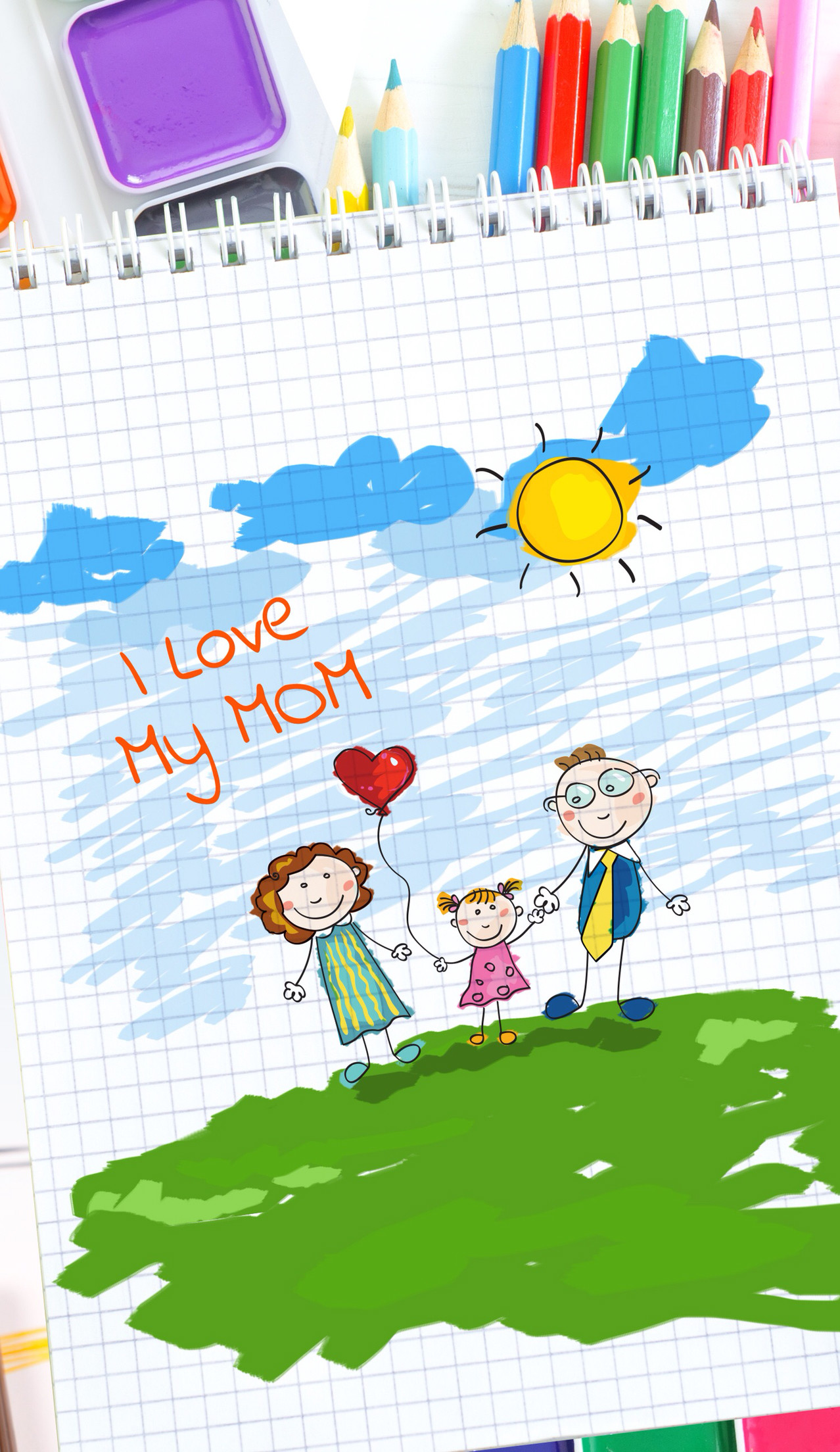 Mother's Day wallpapers. Send one to your mom just for a cute pic or save · I  Love …