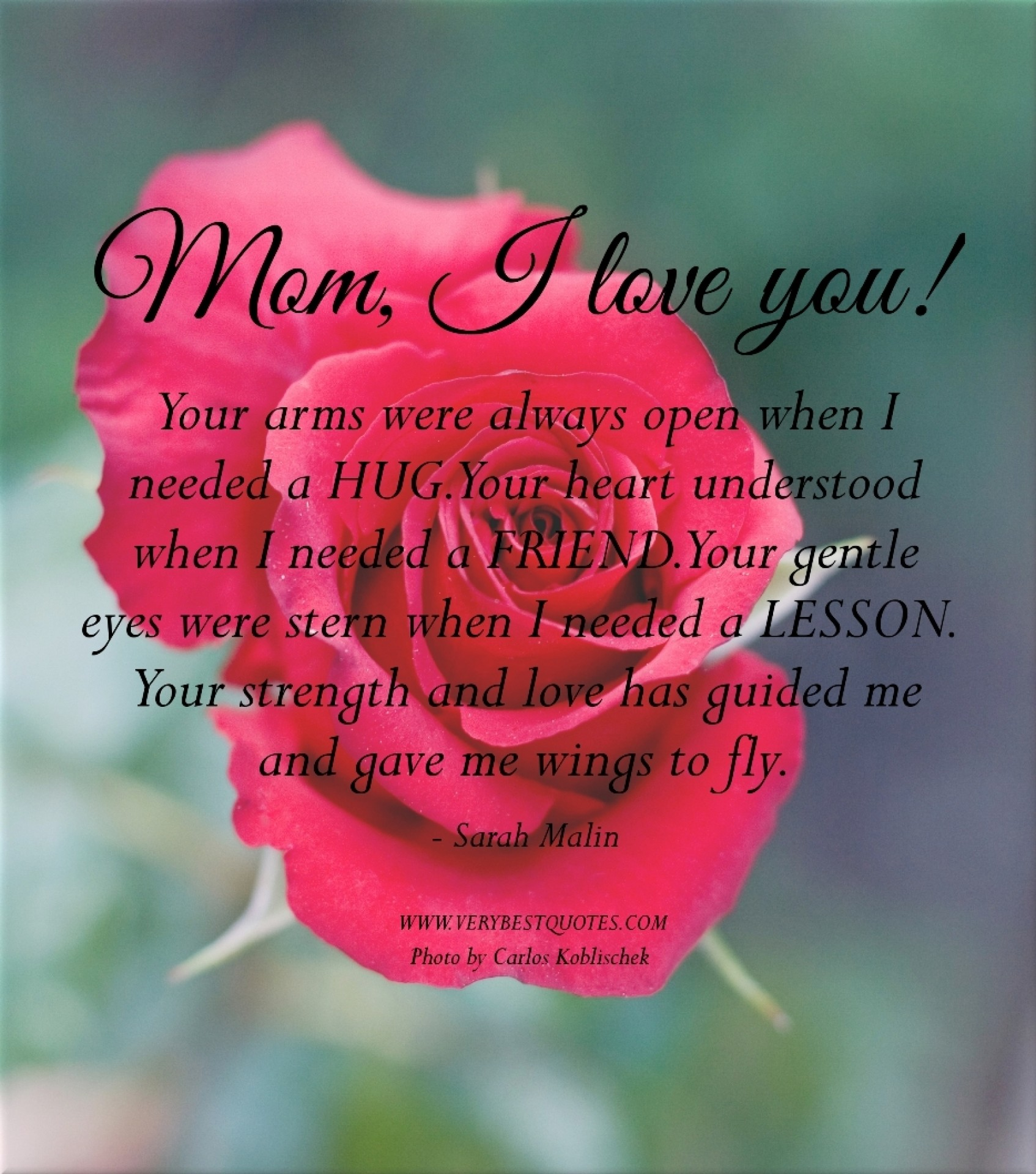 I Love You Mom Quotes Images HD iOS 11 Wallpaper