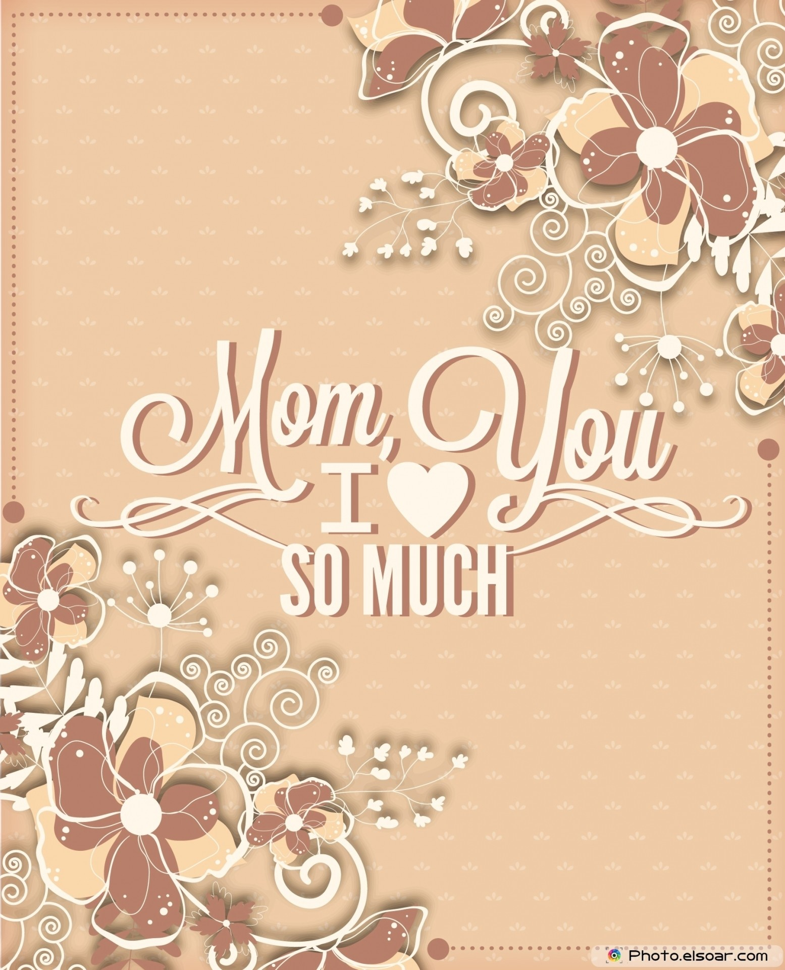 I Love You Mom Vintage Full HD Wallpapers