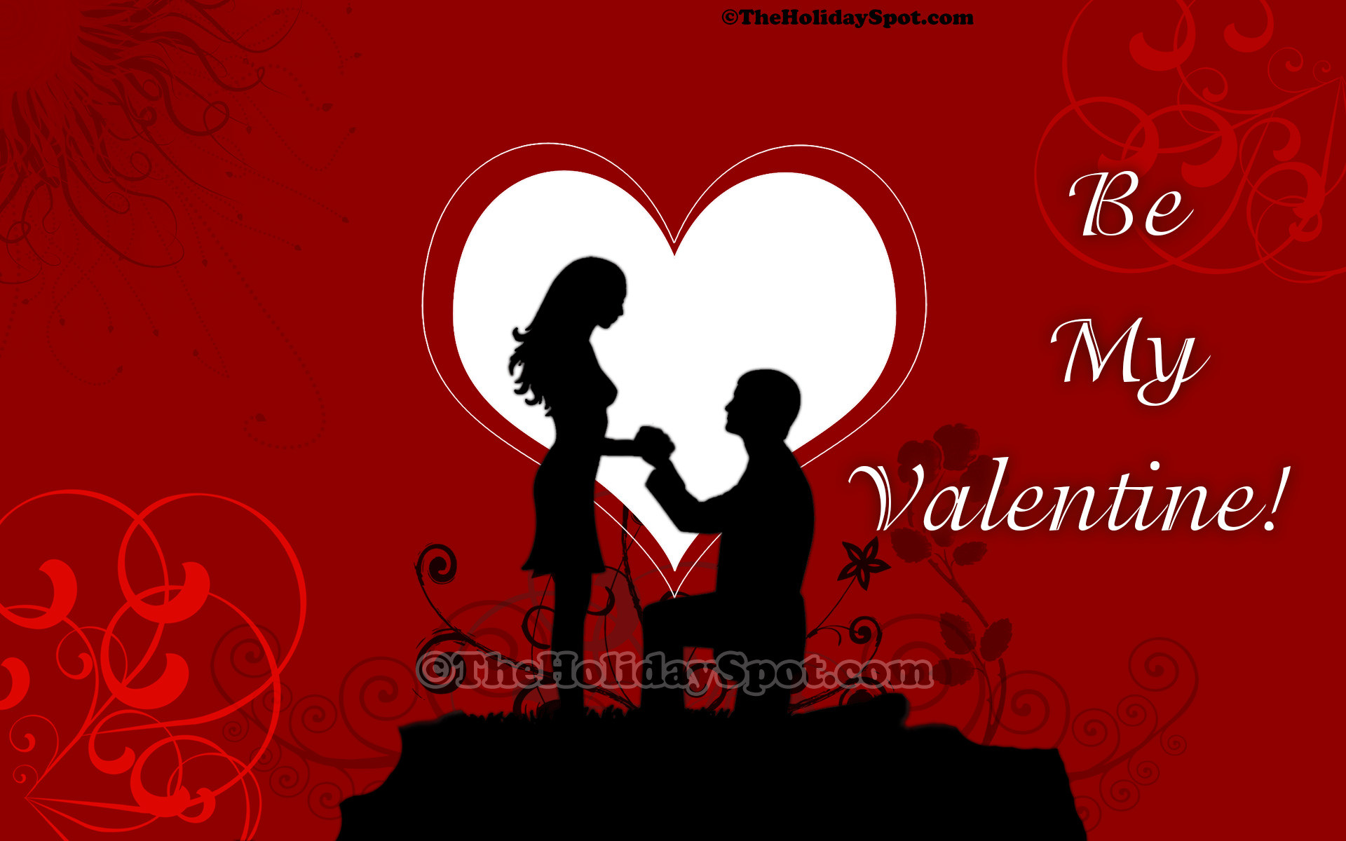 Valentine's Day wallpaper themed with proposal