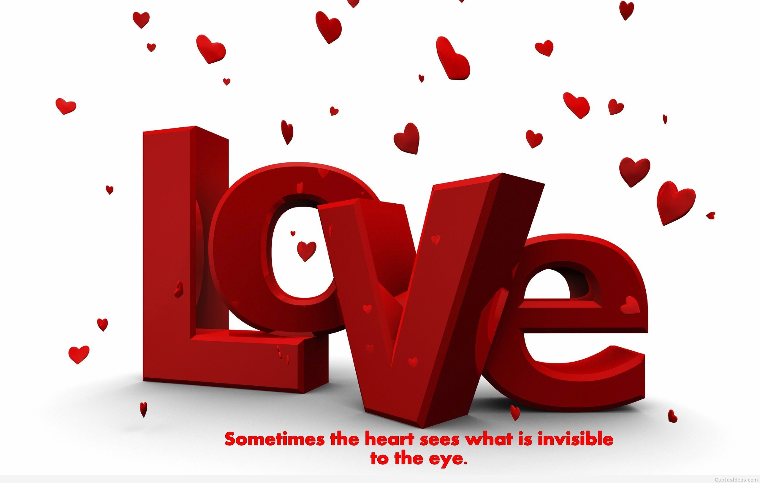 Love Valentine's day HD wallpaper with quote