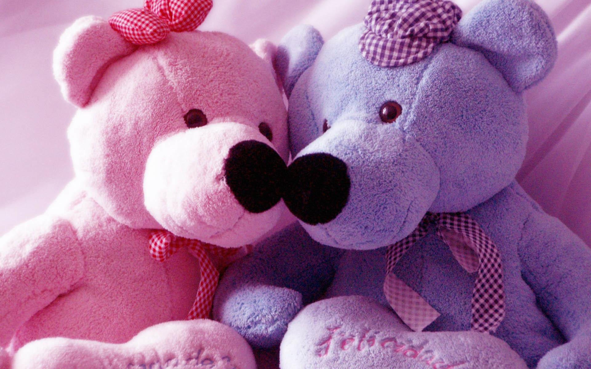 Pink And Blue Teddy Bear Wallpaper Computer 62 #7639 Wallpaper .
