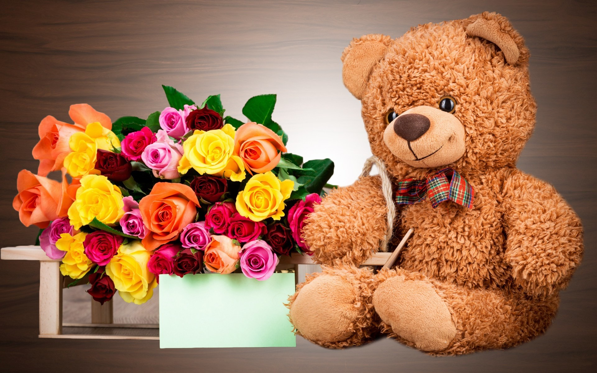 Teddy Bear Wallpapers With Flowers