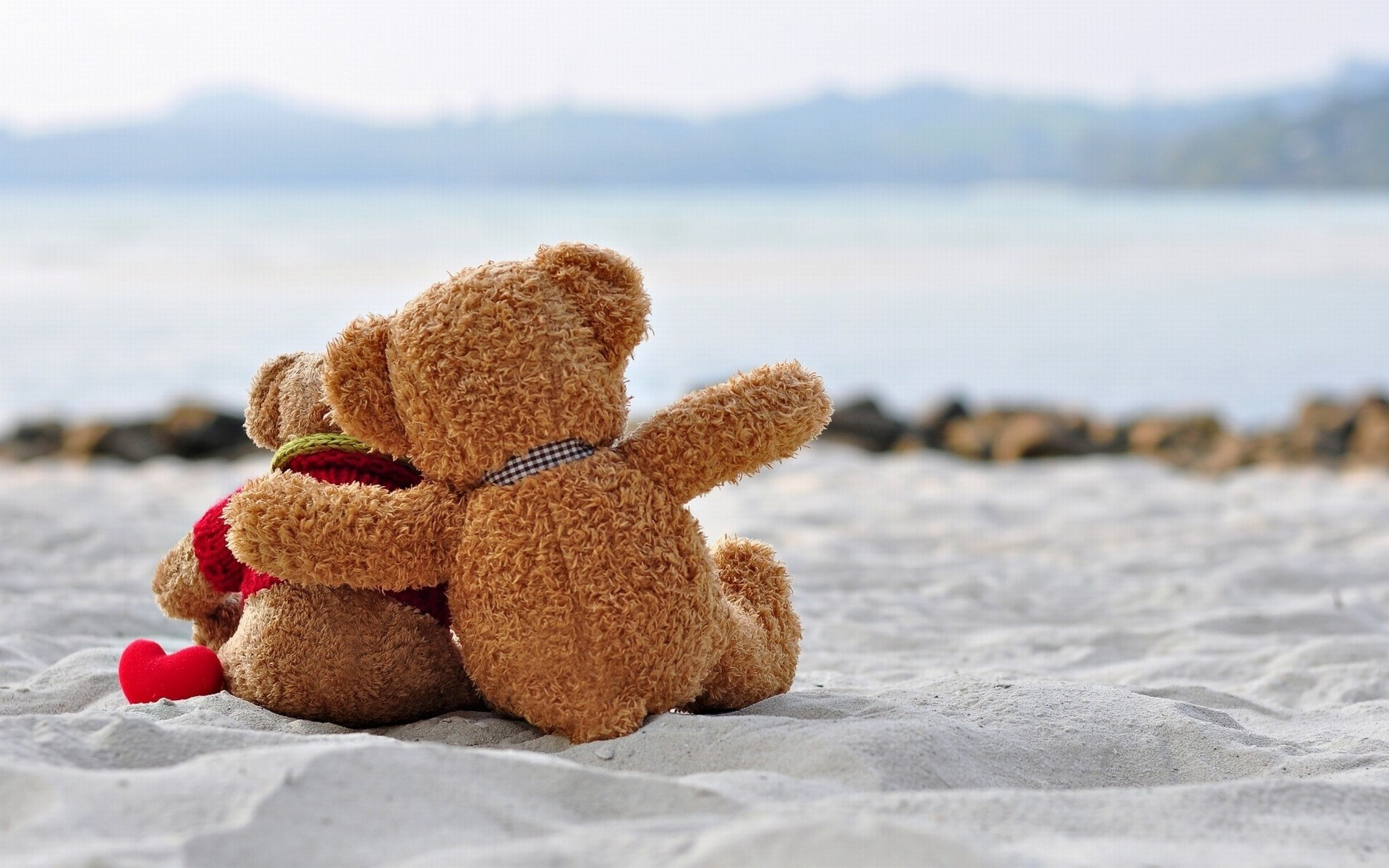 Teddy bears hugs and love HD wallpapers