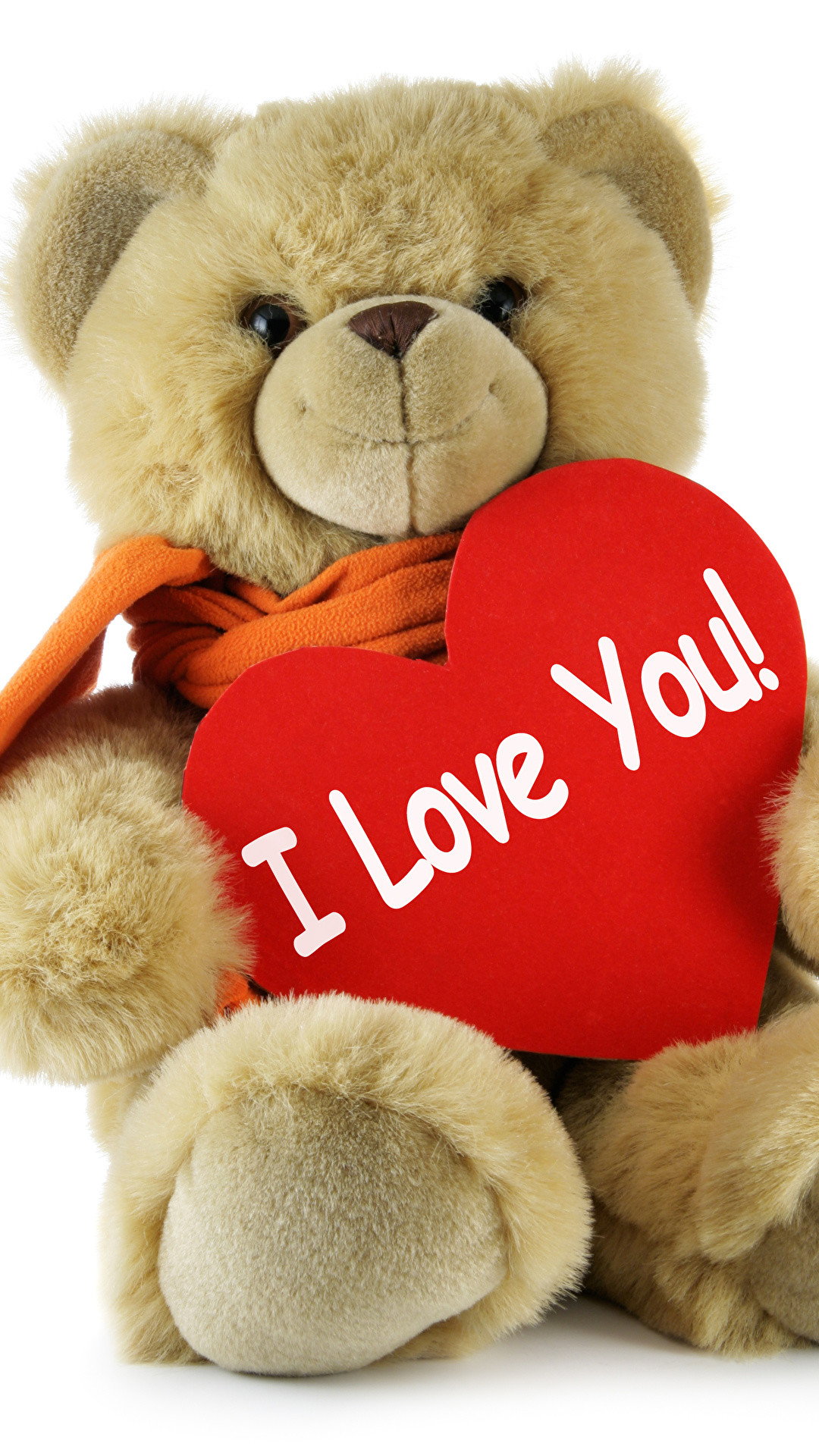 Wallpaper Valentine's Day English Heart Love Teddy bear White background  1080×1920
