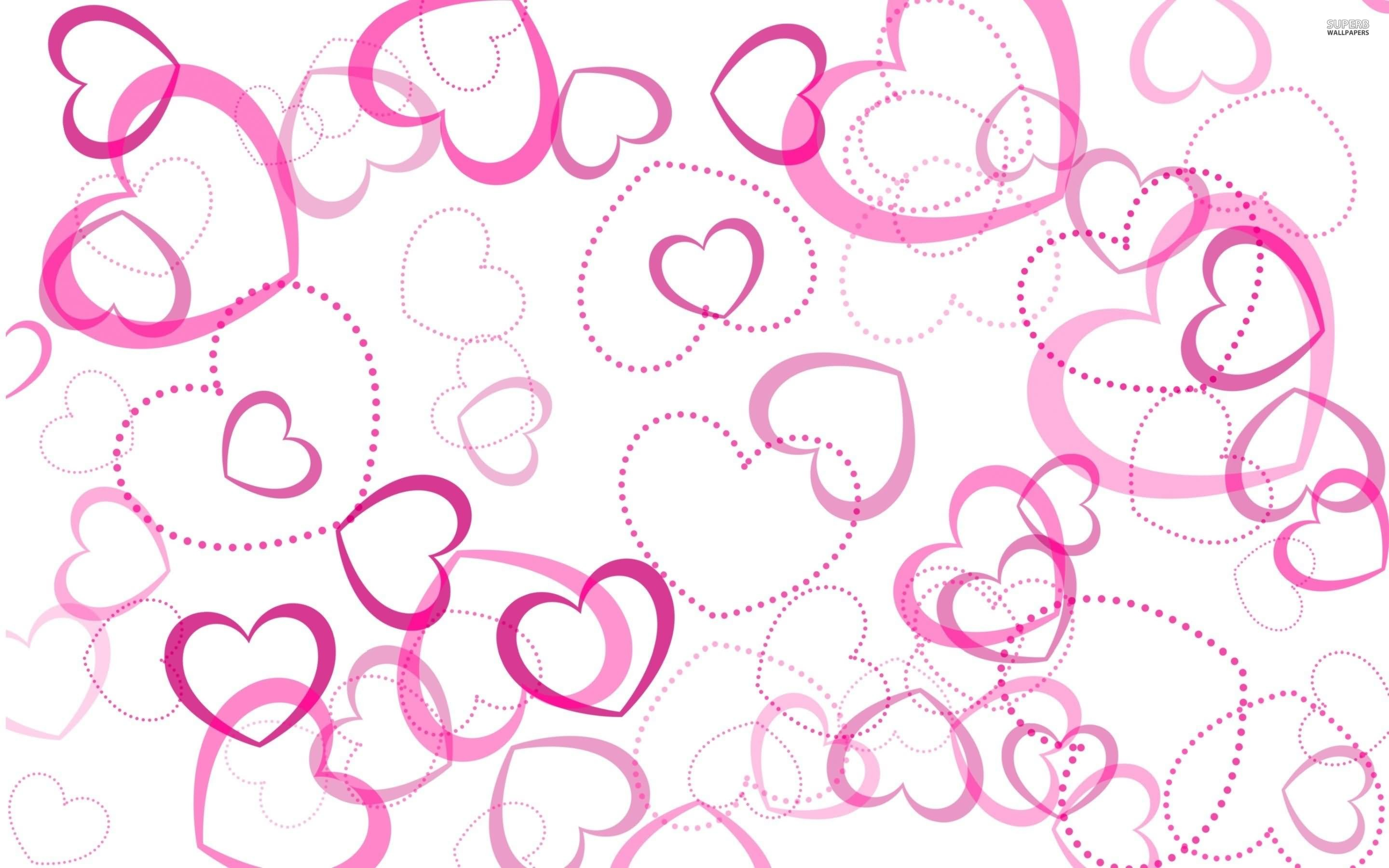 Feed Pictures Hearts Pink Wallpaper Hearts Pink Desktop Background