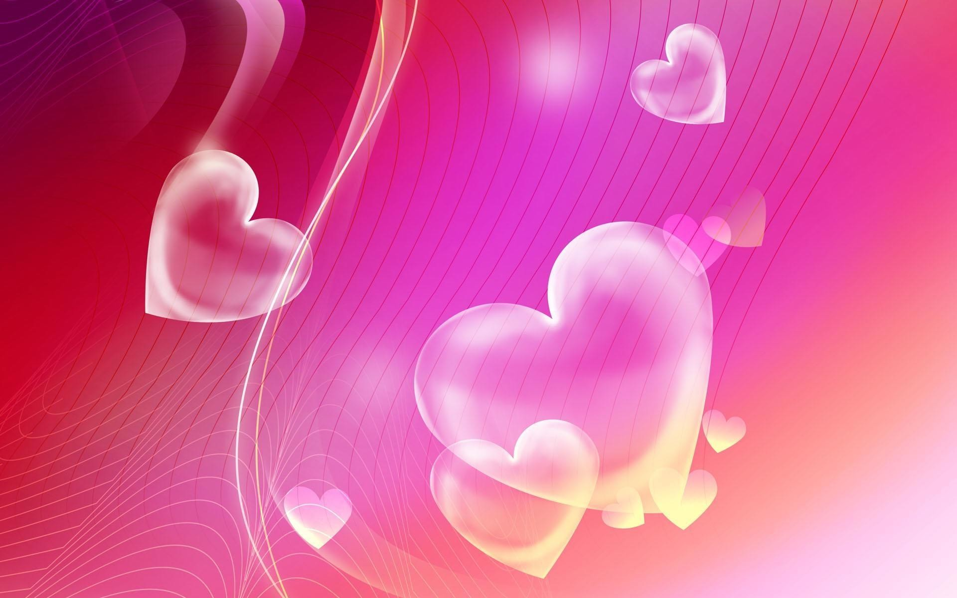 Pink Hearts Backgrounds