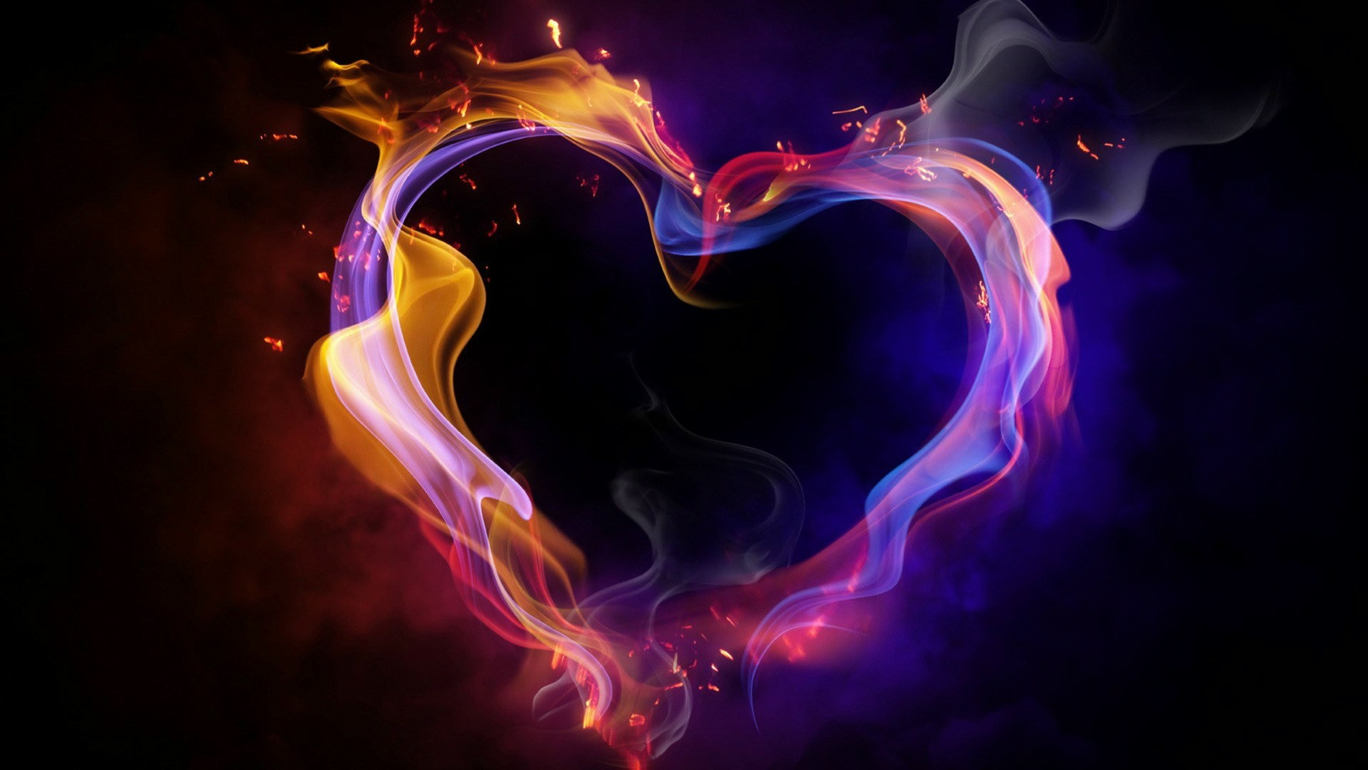 Hd Cool Color Abstract Heart Desktop Wallpapers Backgrounds
