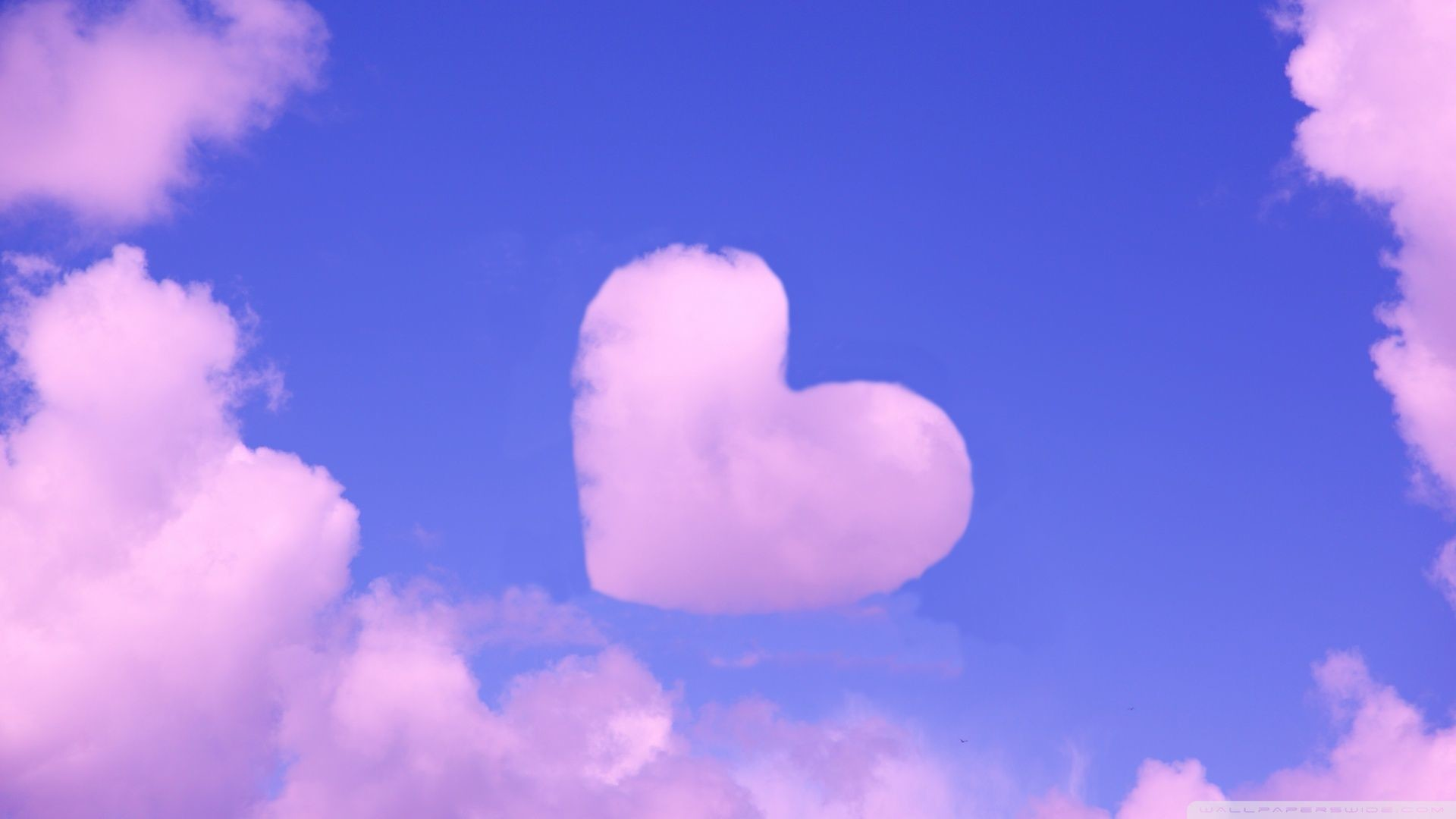 Hot Pink Heart Background Wallpaper Stock Photo