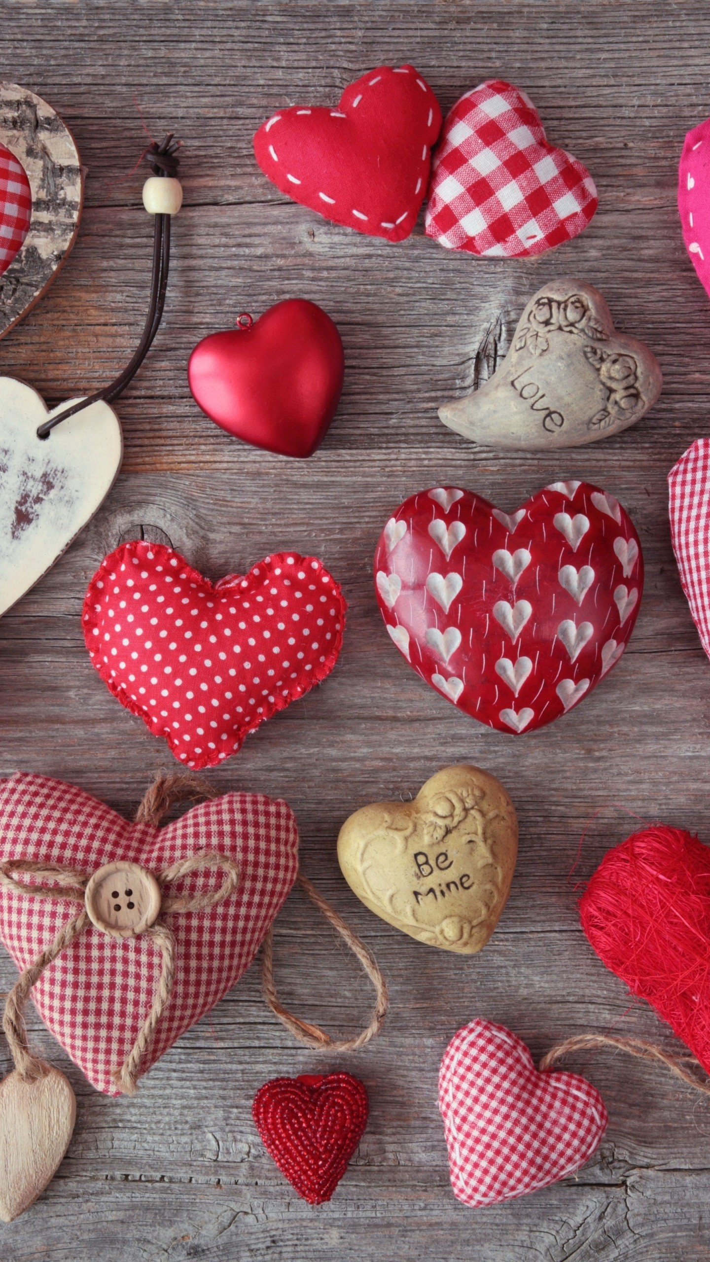 Wallpaper heart, hearts, cushions, fabric, red, pink, line,