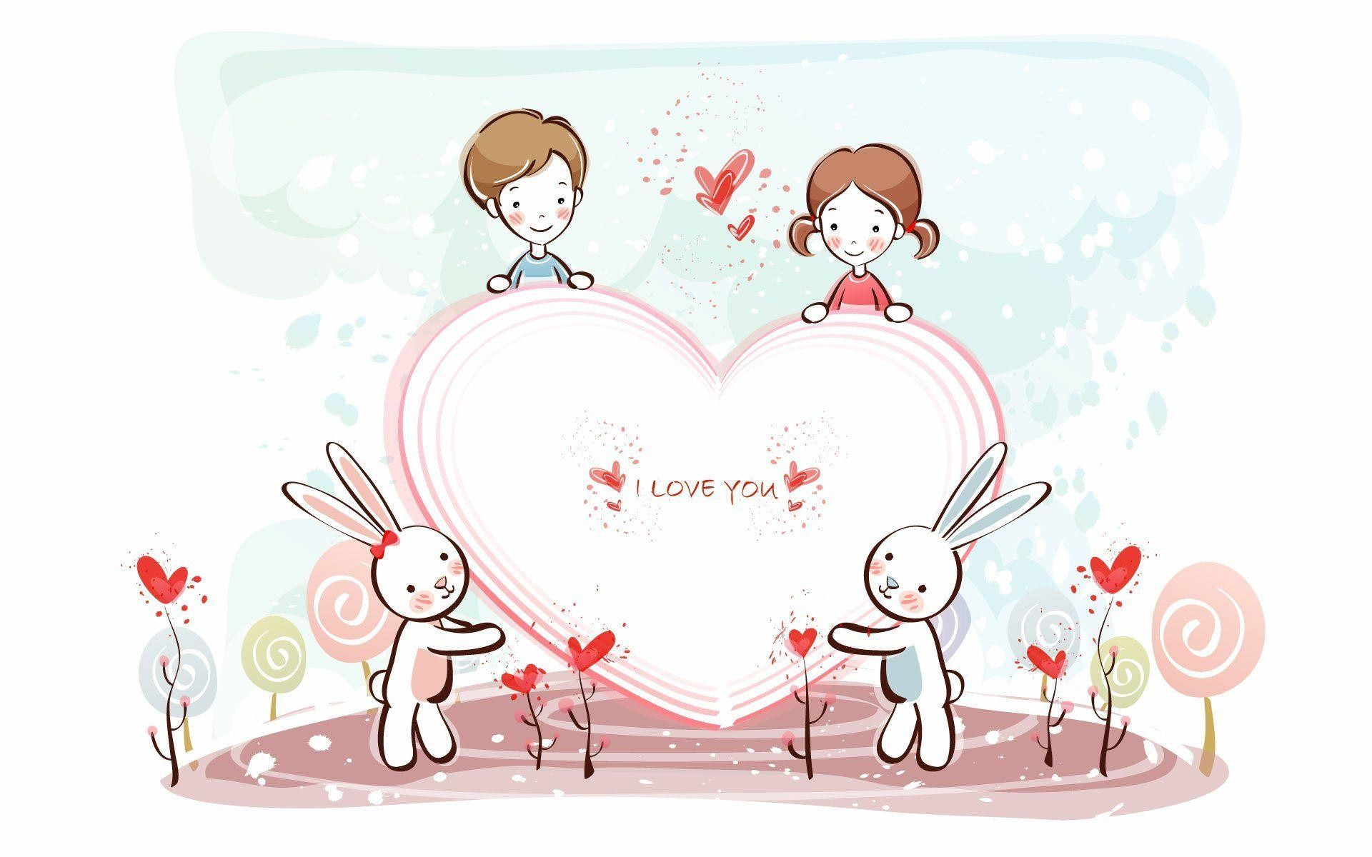 Cute Anime Love Desktop HD Wallpaper #2618 Cute Wallpaper xerobid.