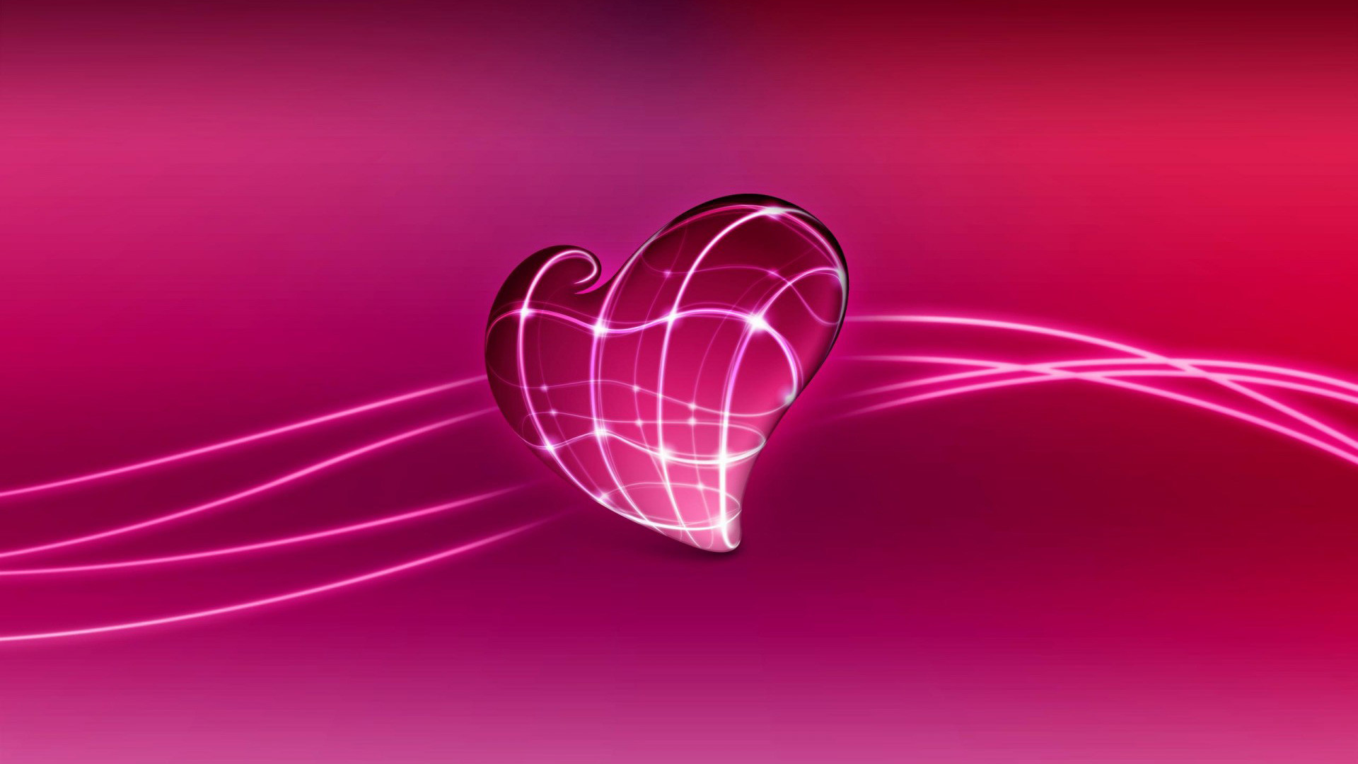 Pink Love Heart – – 16:9