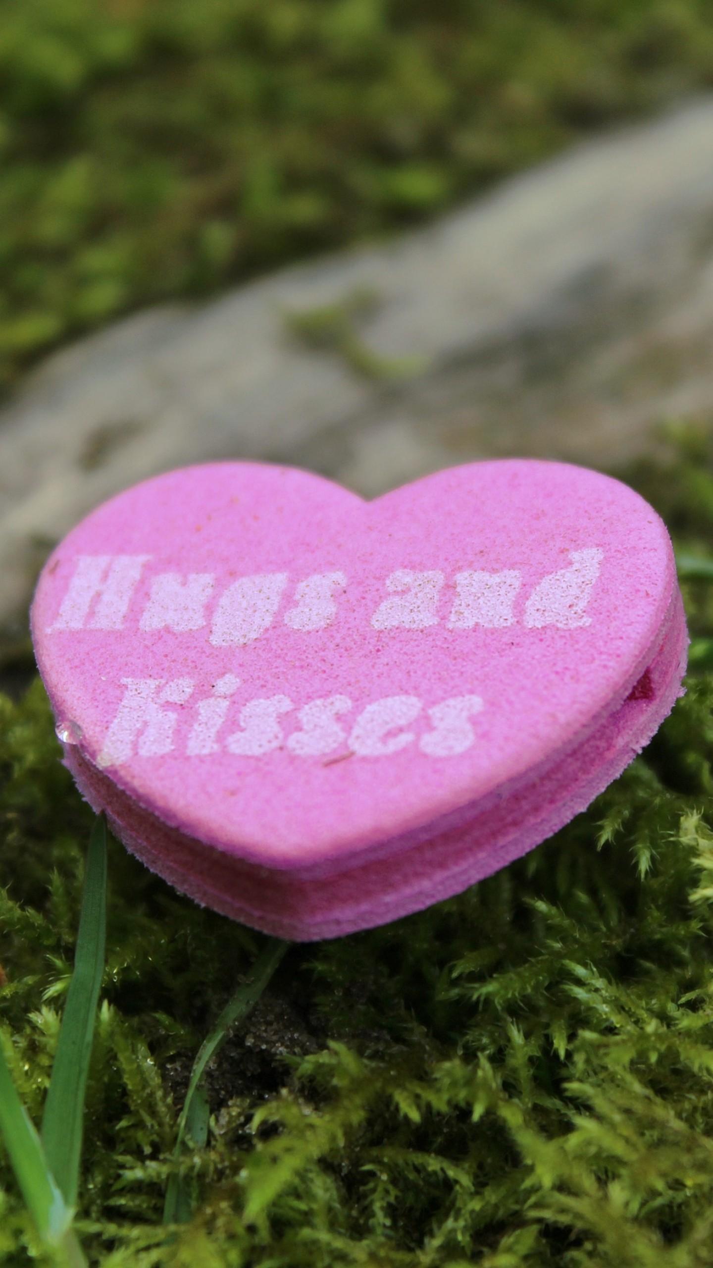 Wallpaper heart, romance, love, inscription, hugs, kisses