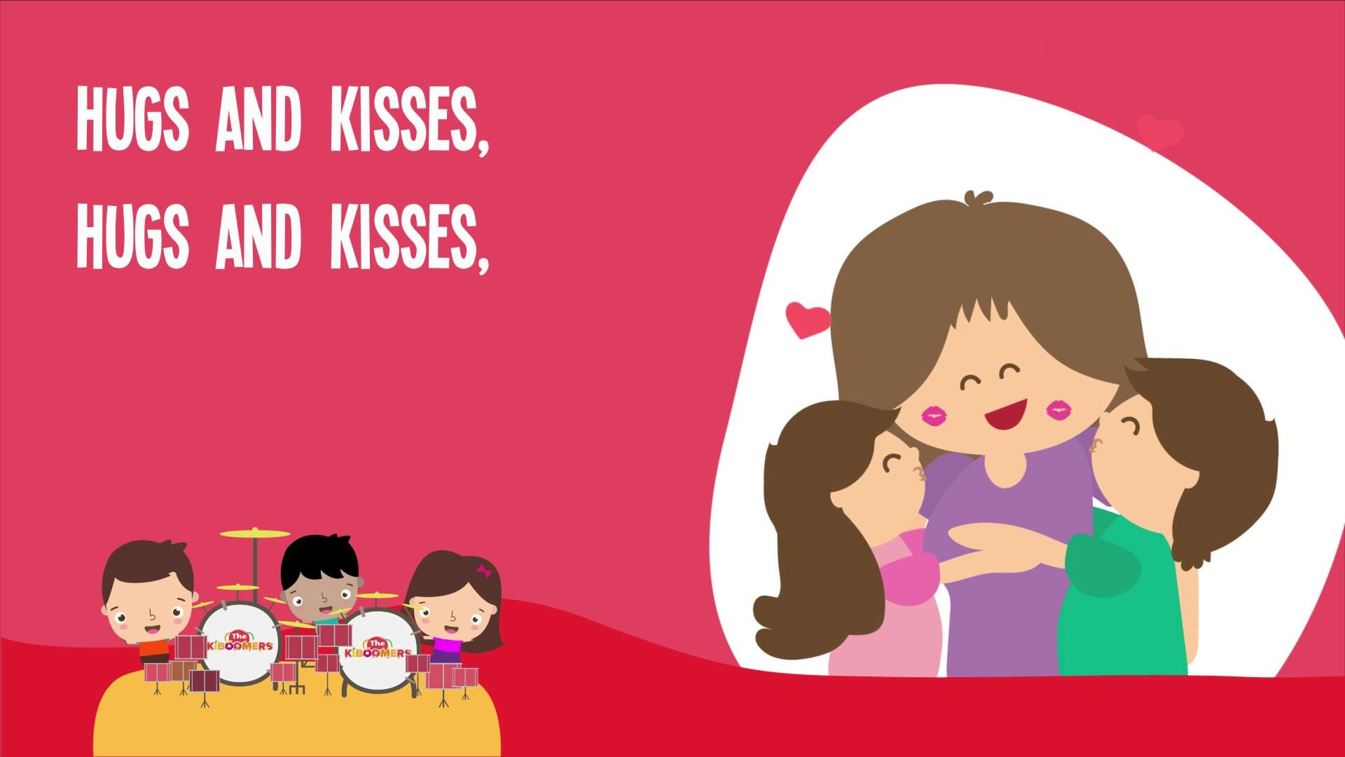 Hugs and Kisses Song | Hugs and Kisses for Mommy | Kids Songs | The  Kiboomers – YouTube