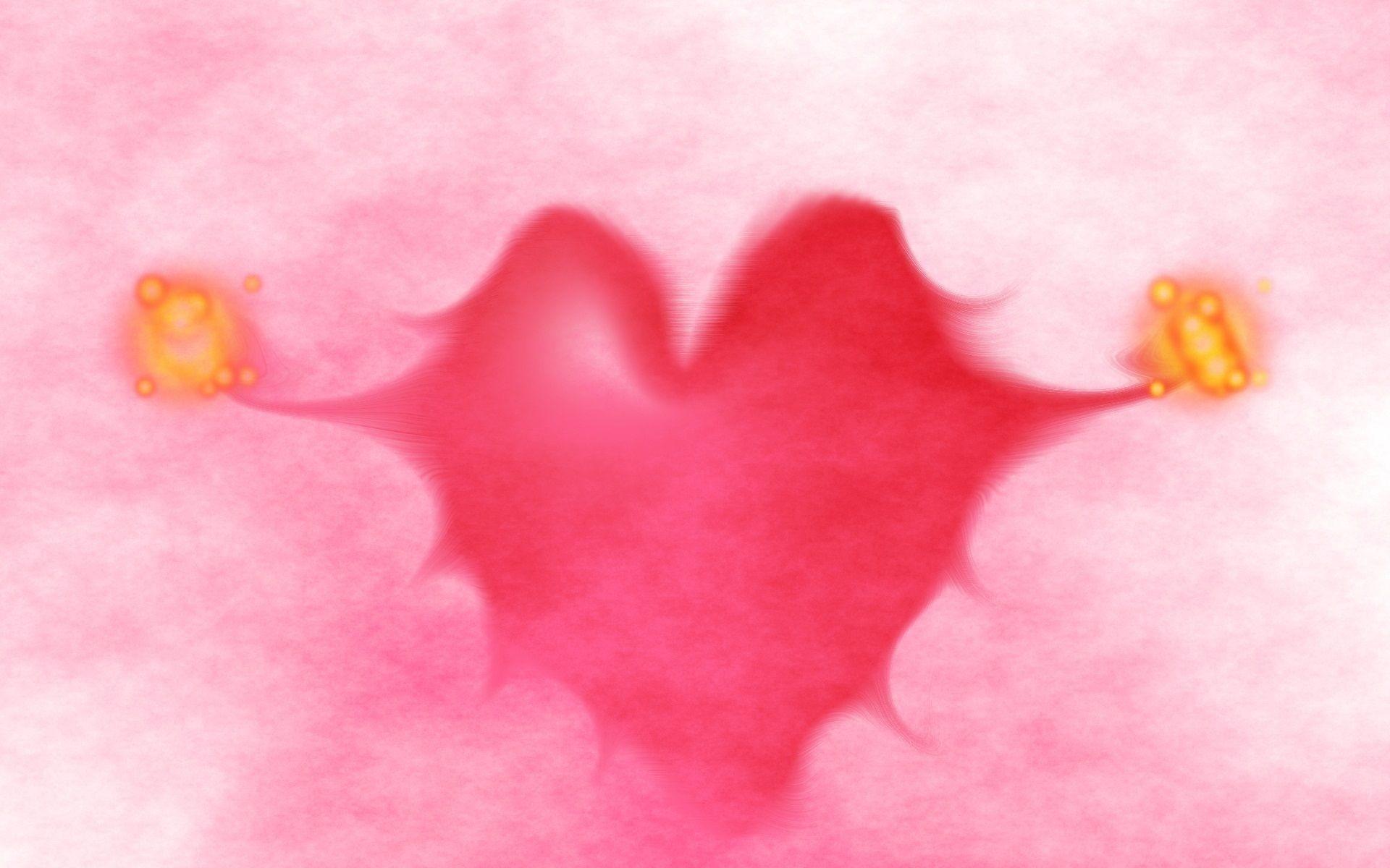 Pinkish Heart Love HD Wallpaper