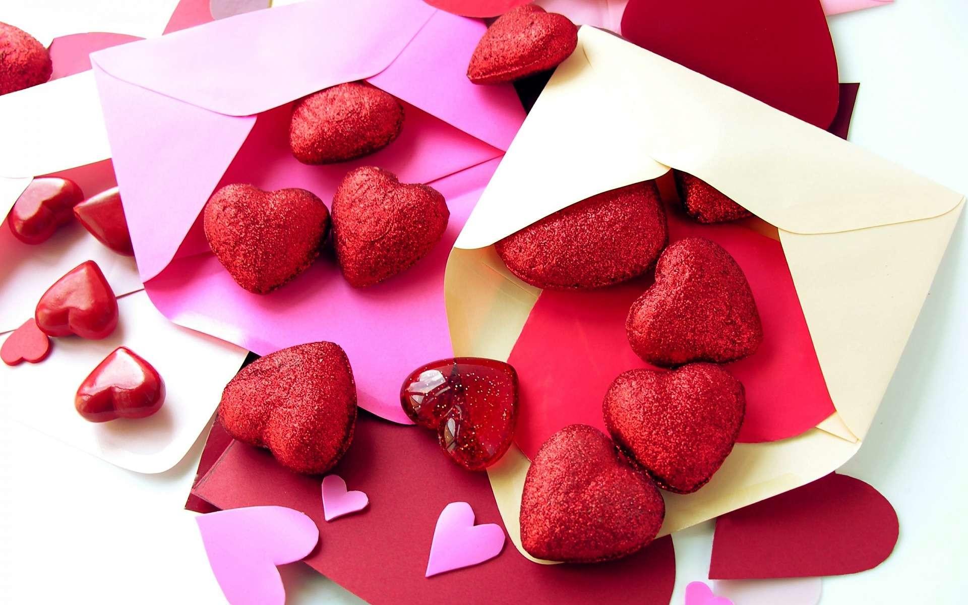 Sweet Love Hearts Wallpaper