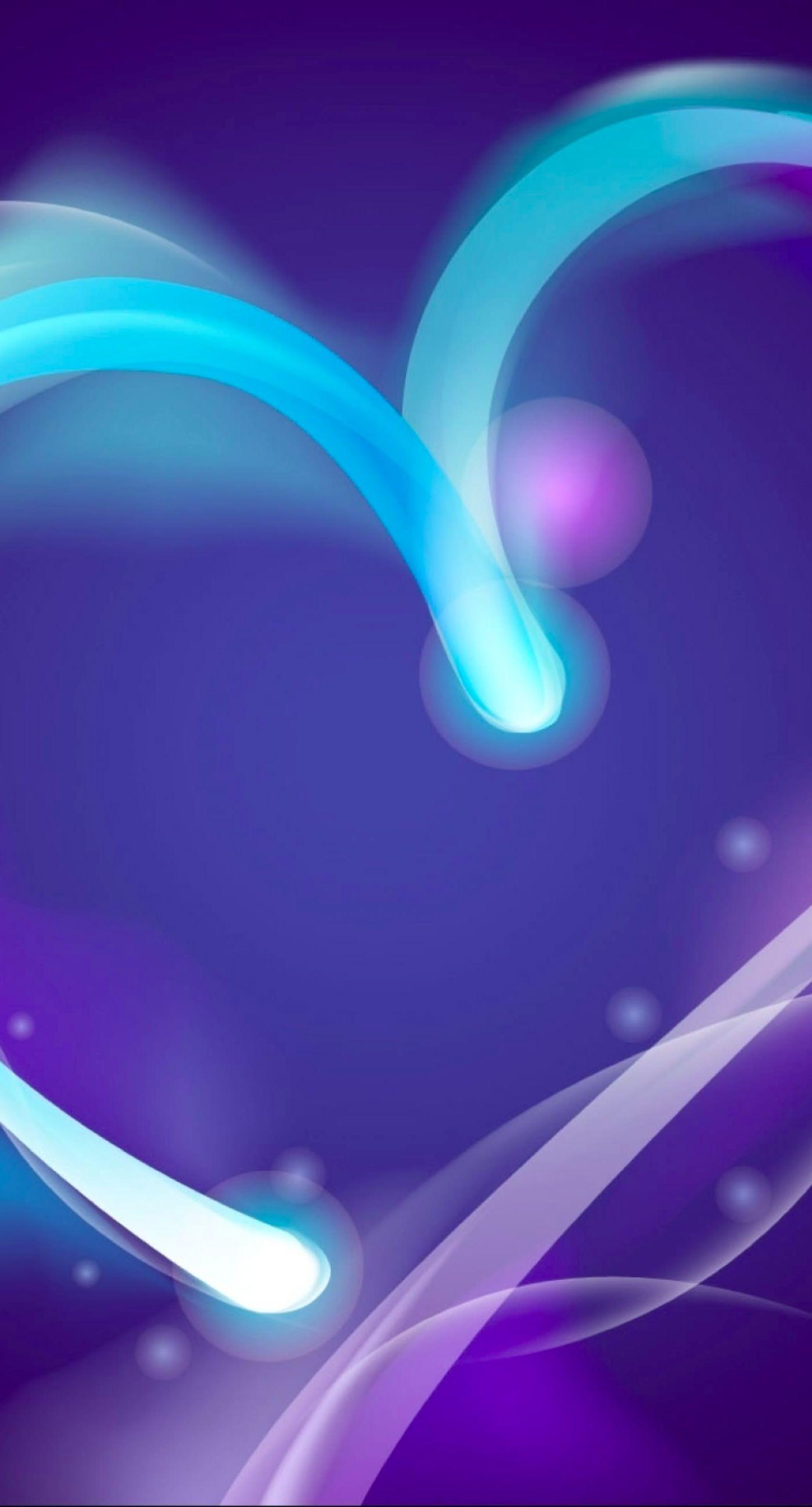 Cute Purple Heart iPhone7 Plus Wallpaper