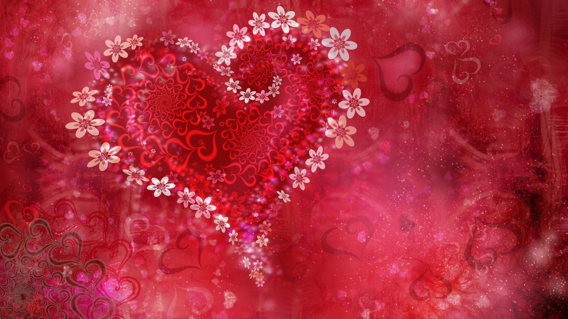Love Heart Flowers Wallpapers   HD Wallpapers