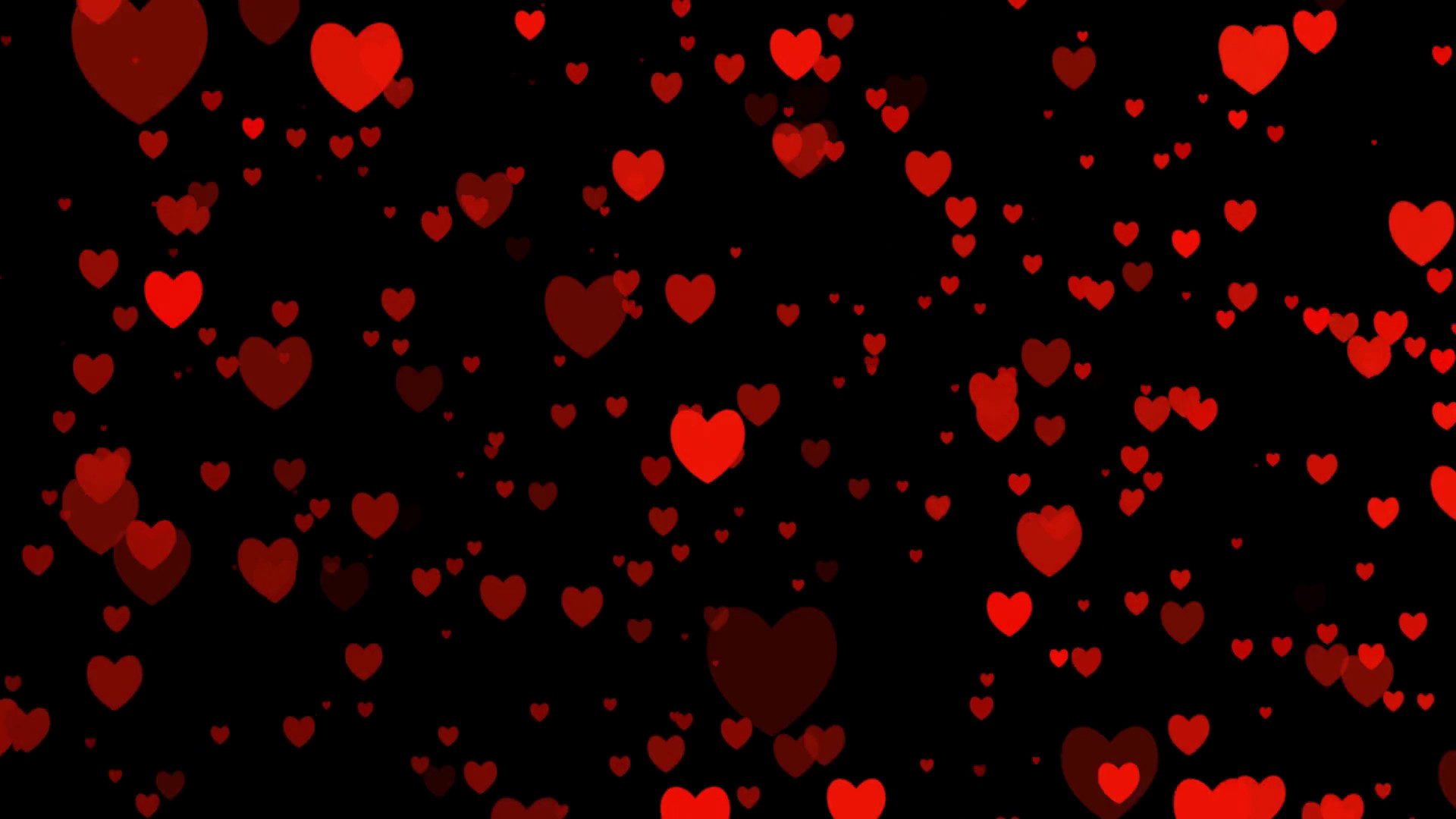 Subscription Library Heart video for valentines day for love appears on  black background animated of your feeling.