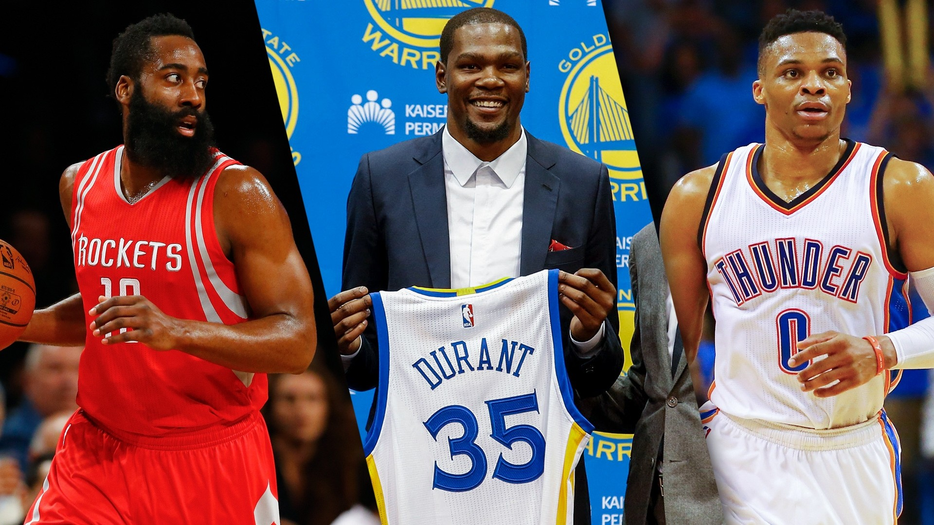 James Harden Comments On Feud Between Russell Westbrook and Kevin Durant