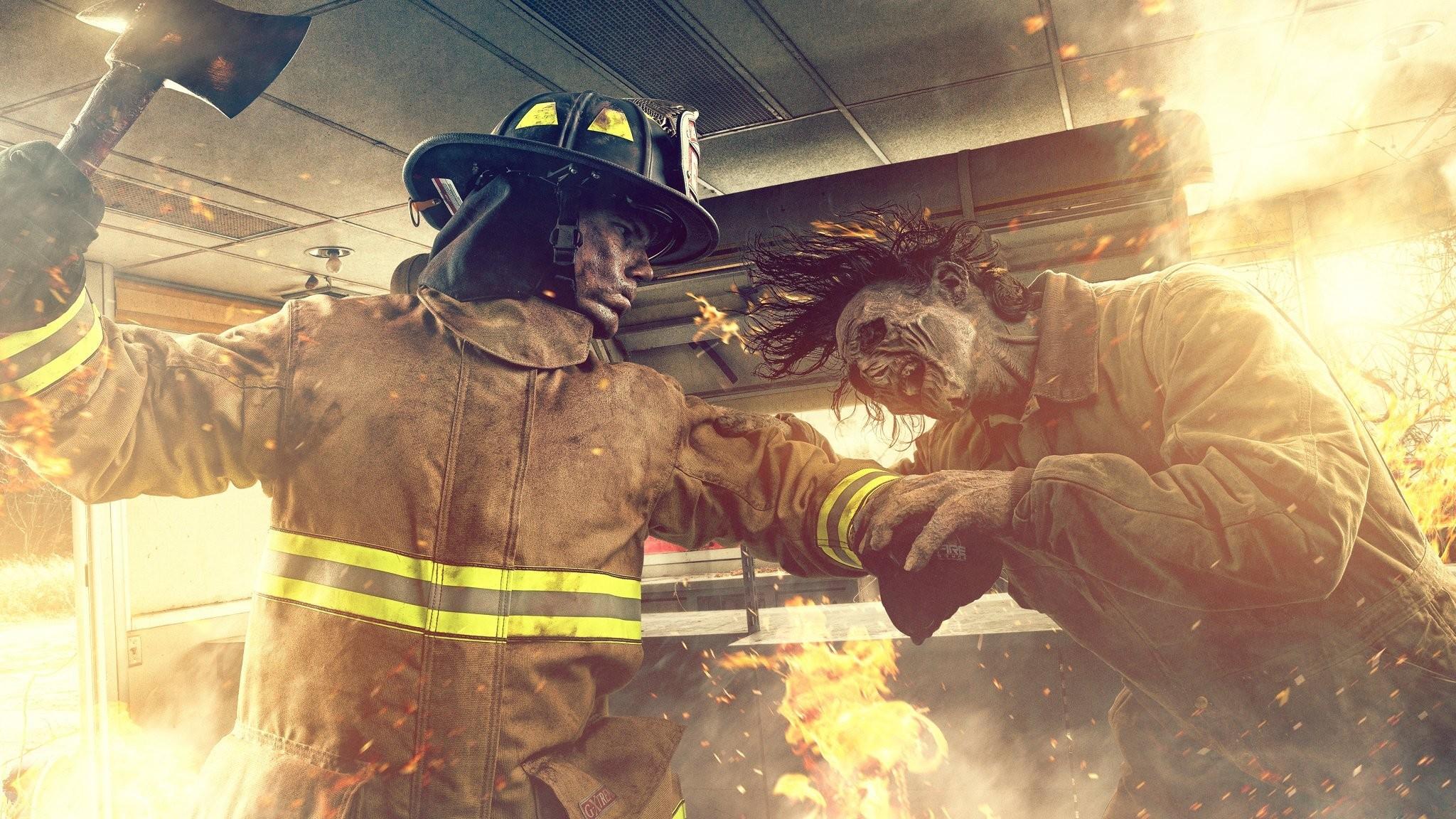 … zombie vs firefighter fire fire quest hd wallpaper …