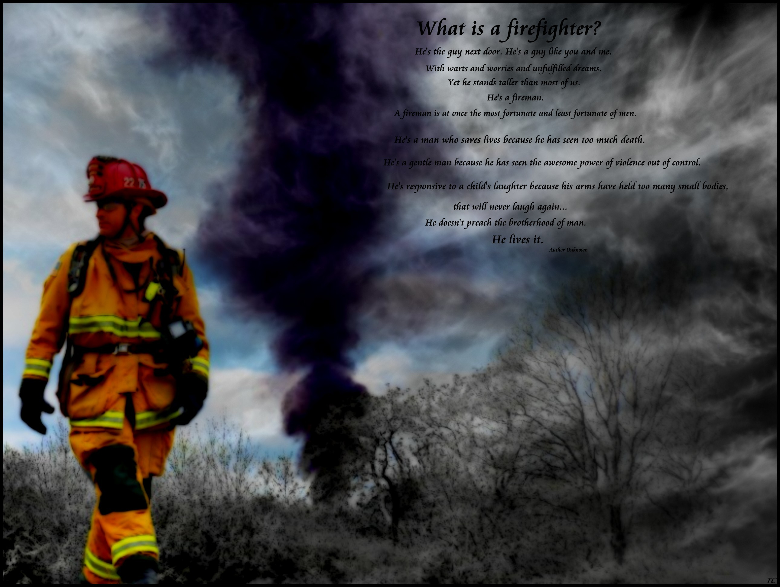 Firefighter Prayer Wallpaper Firefighter wallpaper