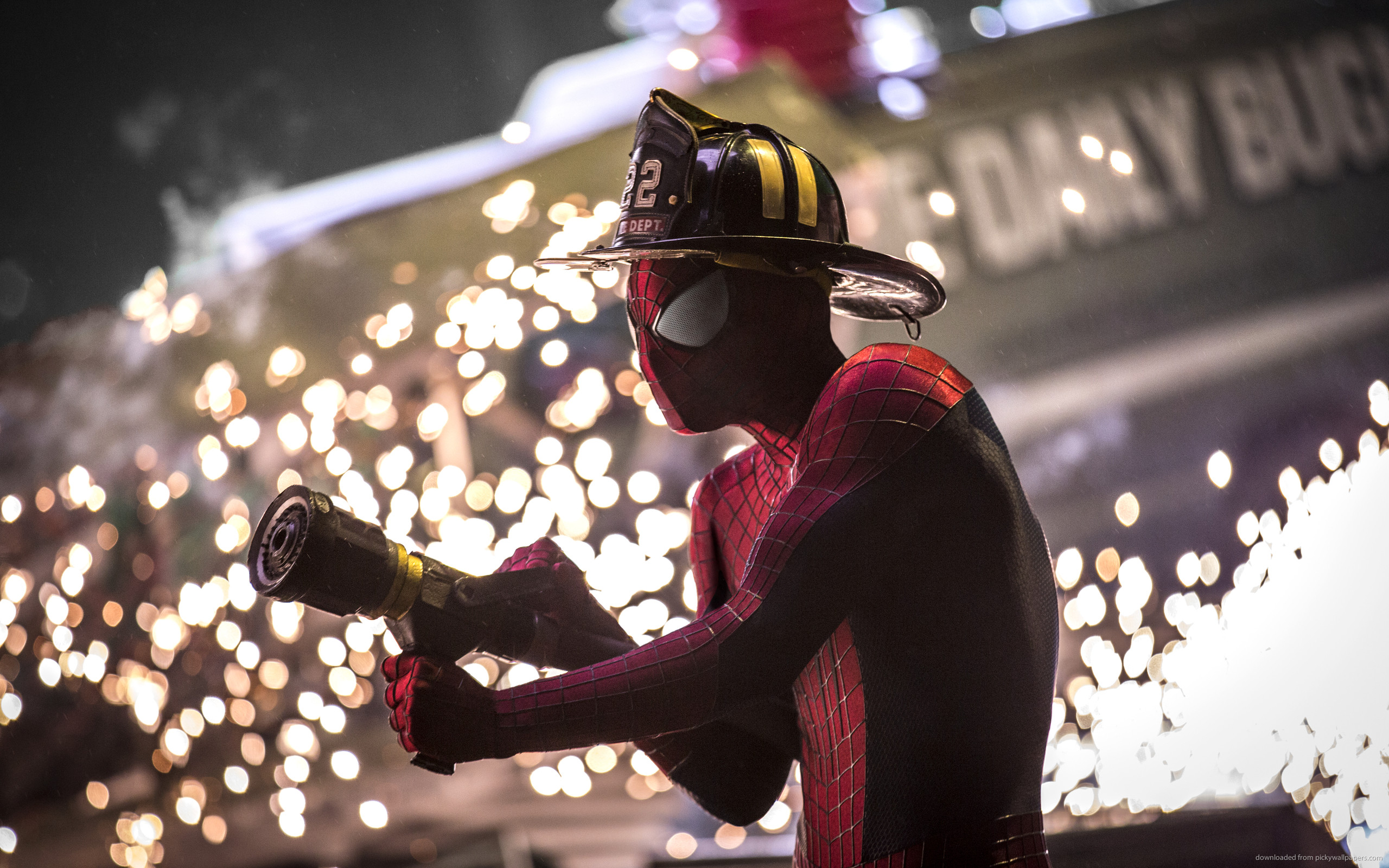 Spider-Man Firefighter for 2560×1600