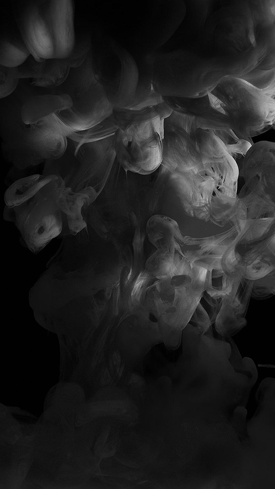 Smoke Dark Bw Abstract Fog Art Illust #iPhone #6 #plus #wallpaper