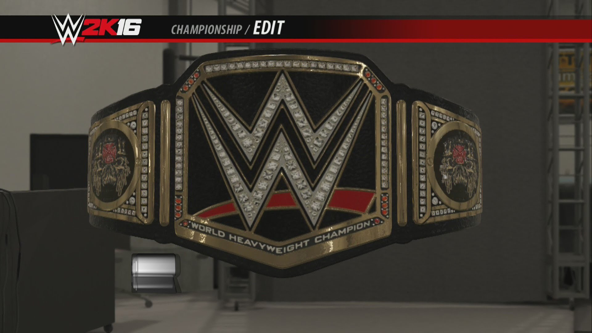 WWE 2K16 Creations Custom Championship Triple H Side Plates WWE World  Heavyweight Championship