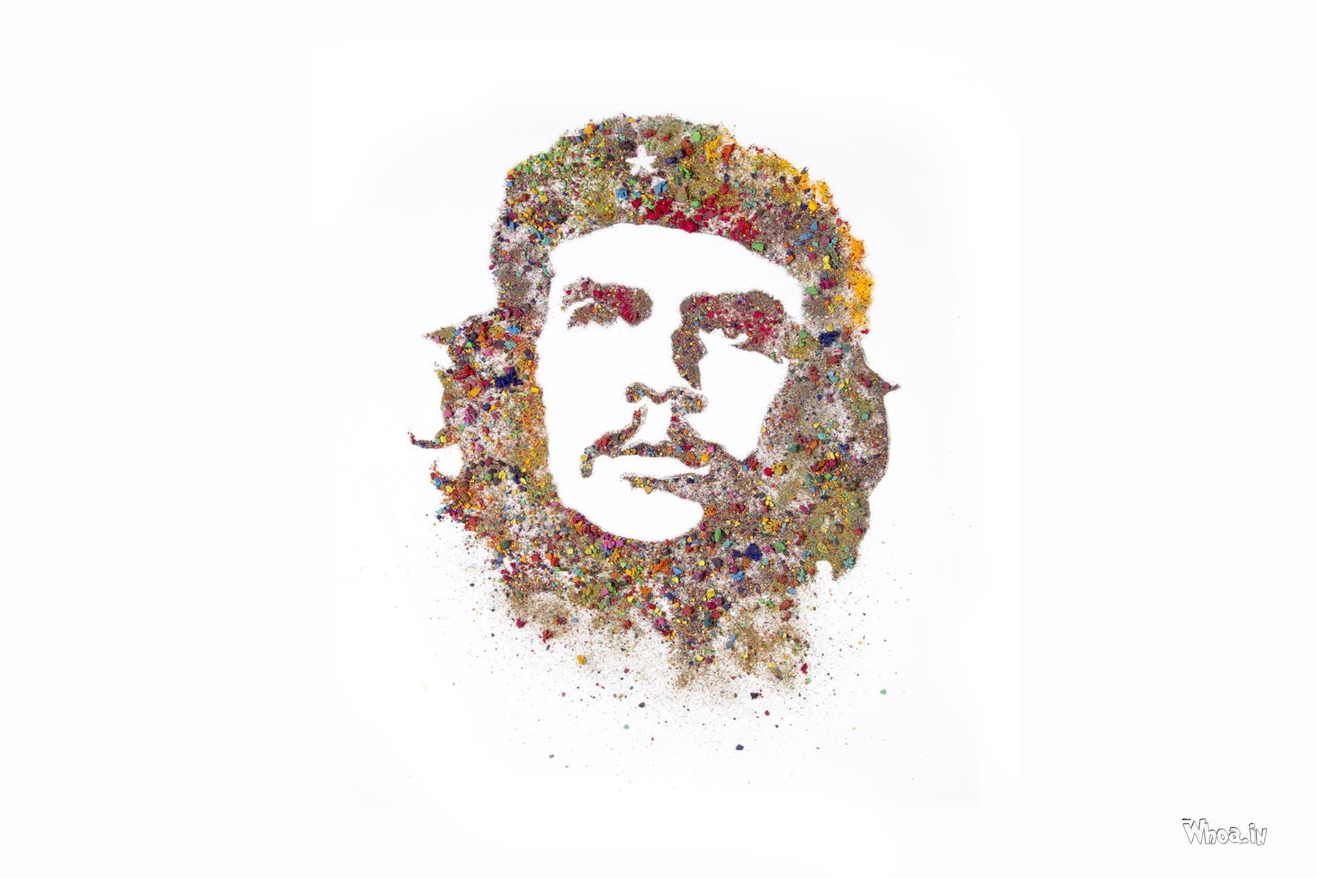 … Che Guevara Rangoli Color Painting HD Wallpaper …