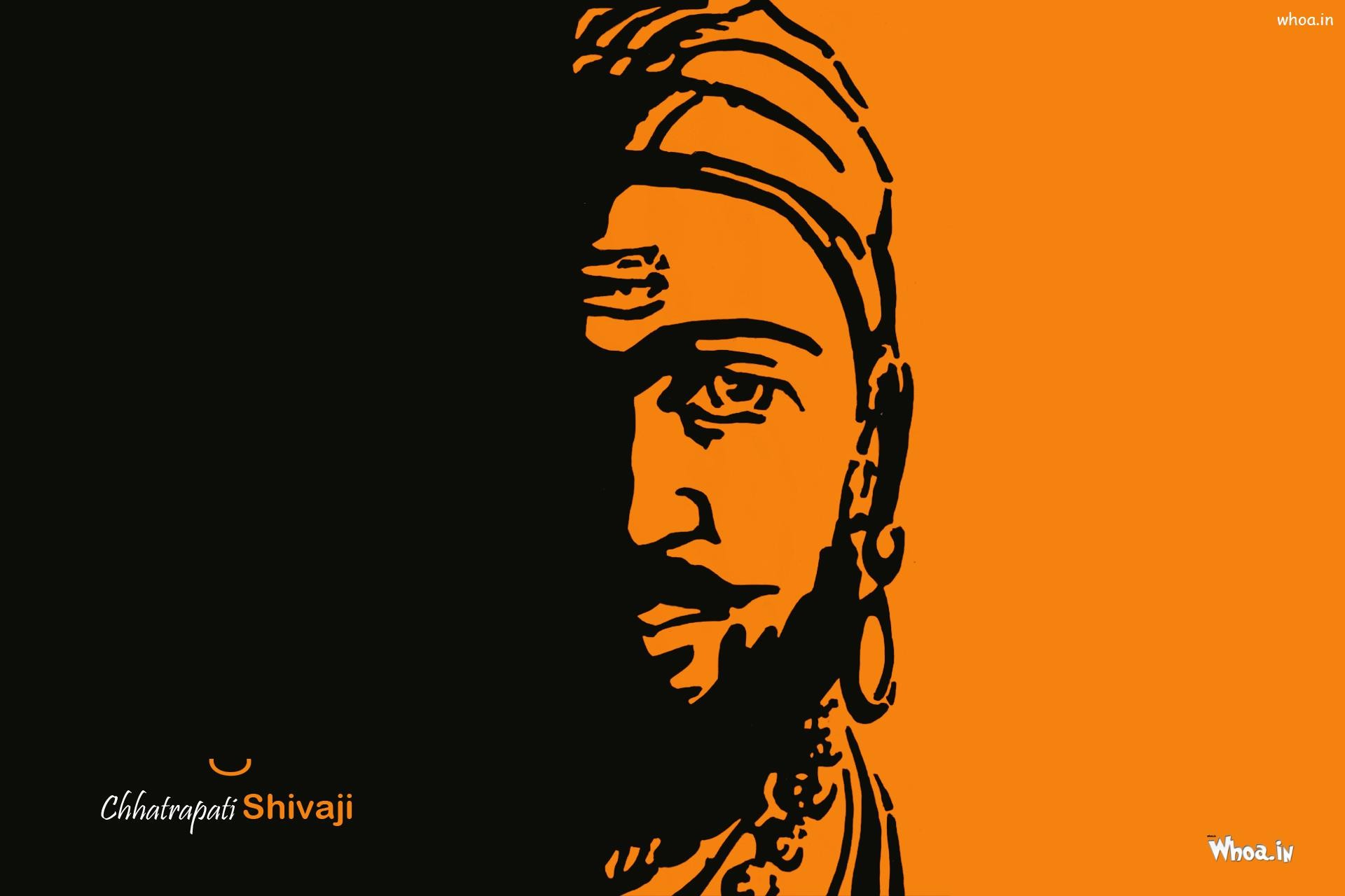 … Chatrapati Shivaji Maharaj Face Closeup HD Wallpaper