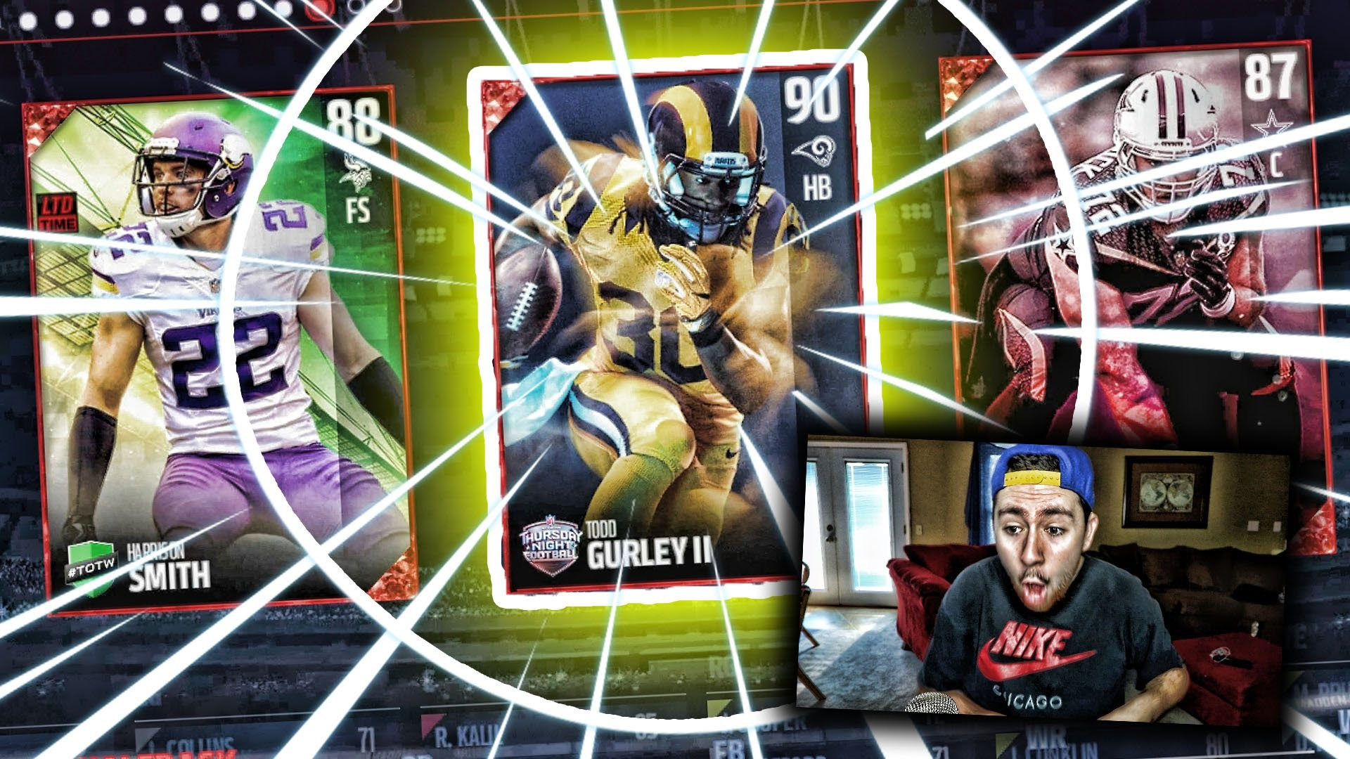 90 COLOR RUSH TODD GURLEY!   MADDEN 17 DRAFT CHAMPIONS CHALLENGE – YouTube
