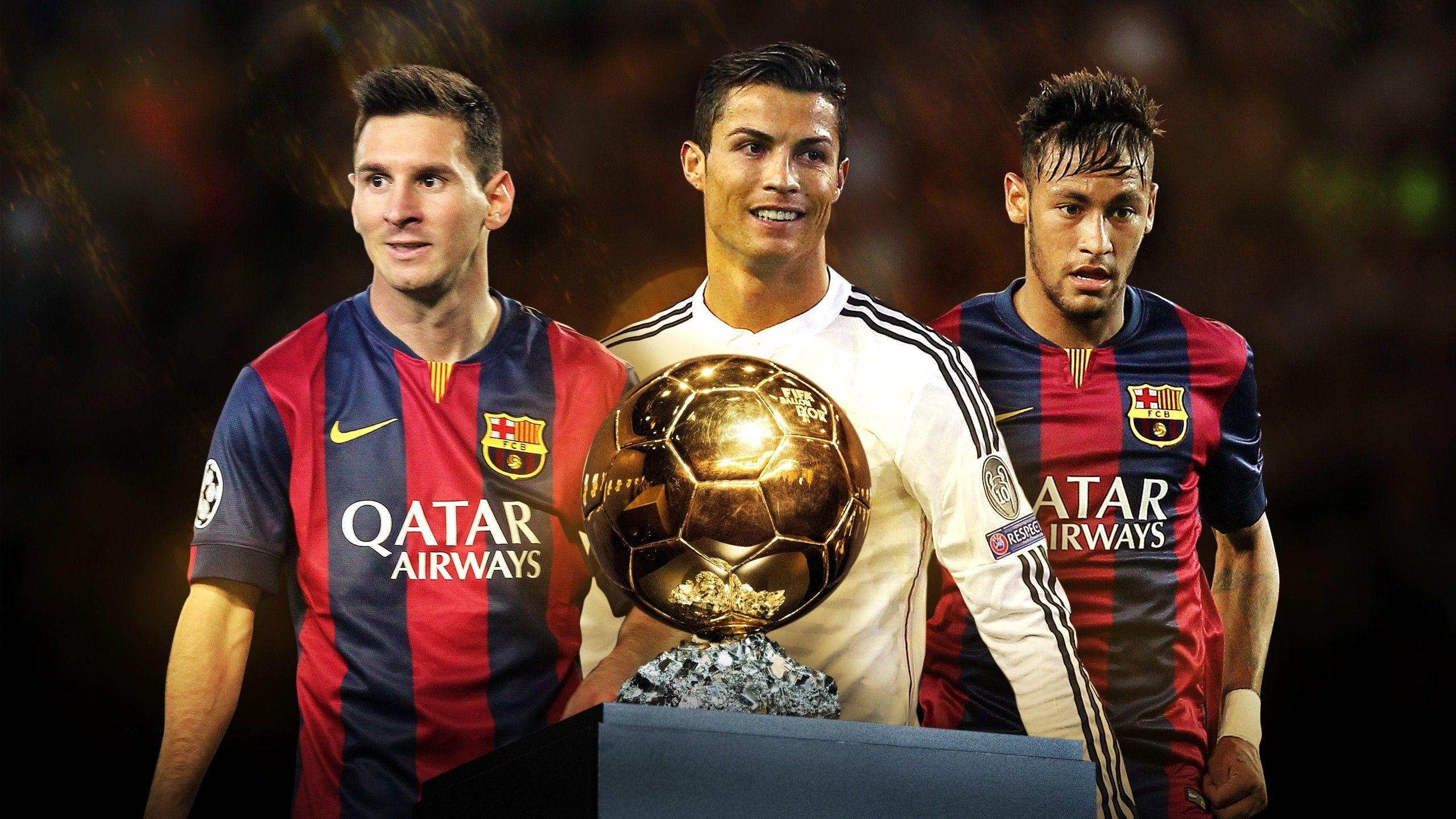 Lionel Messi, Cristiano Ronaldo and Neymar