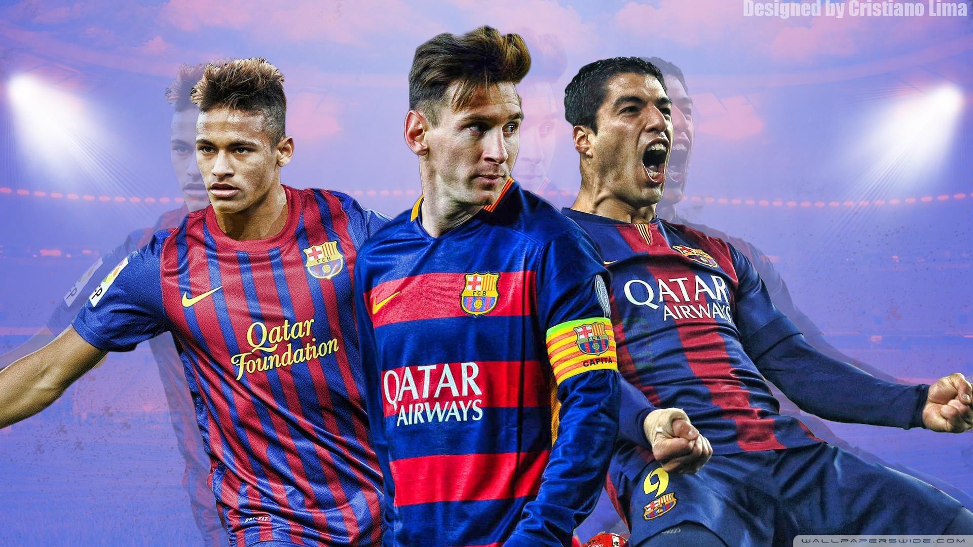 … Barca Neymar Messi Wallpaper Barcelona Trio – Messi, Suarez And Neymar  Hd Desktop Wallpaper …