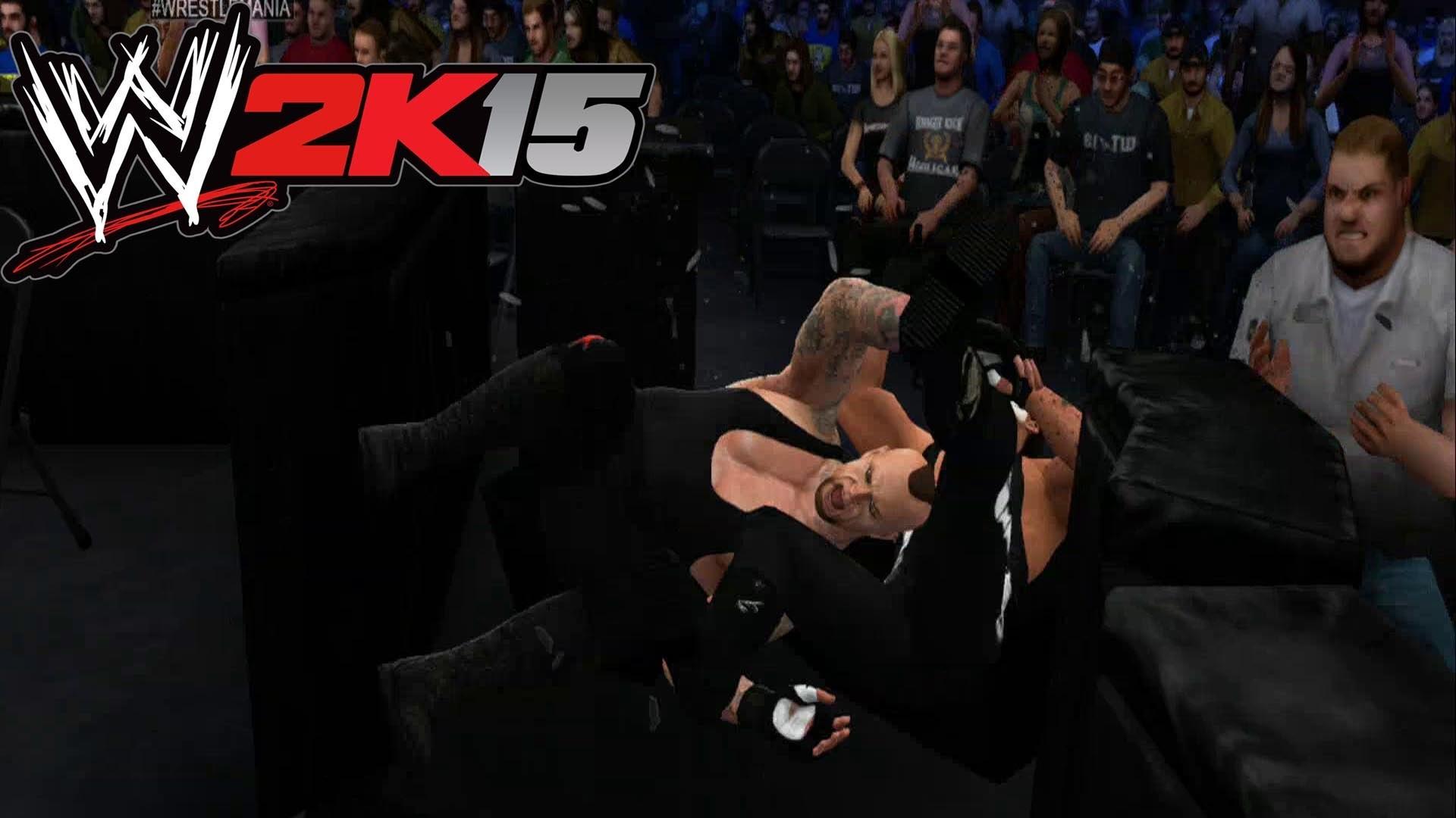 WWE 2K15 – Wrestlemania Undertaker vs Sting [ HD ]