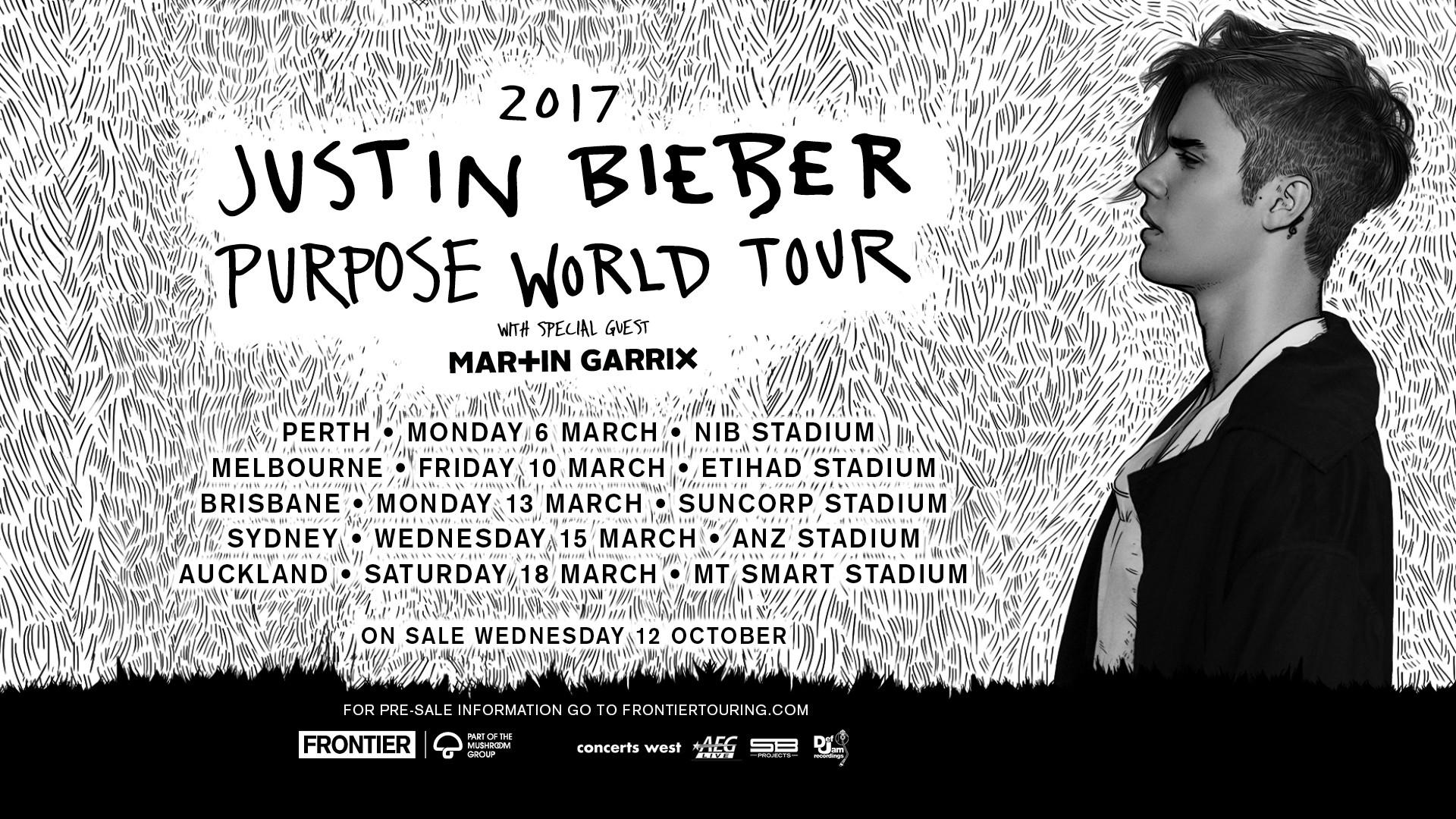 Justin Bieber Nat AUNZ Tour Art