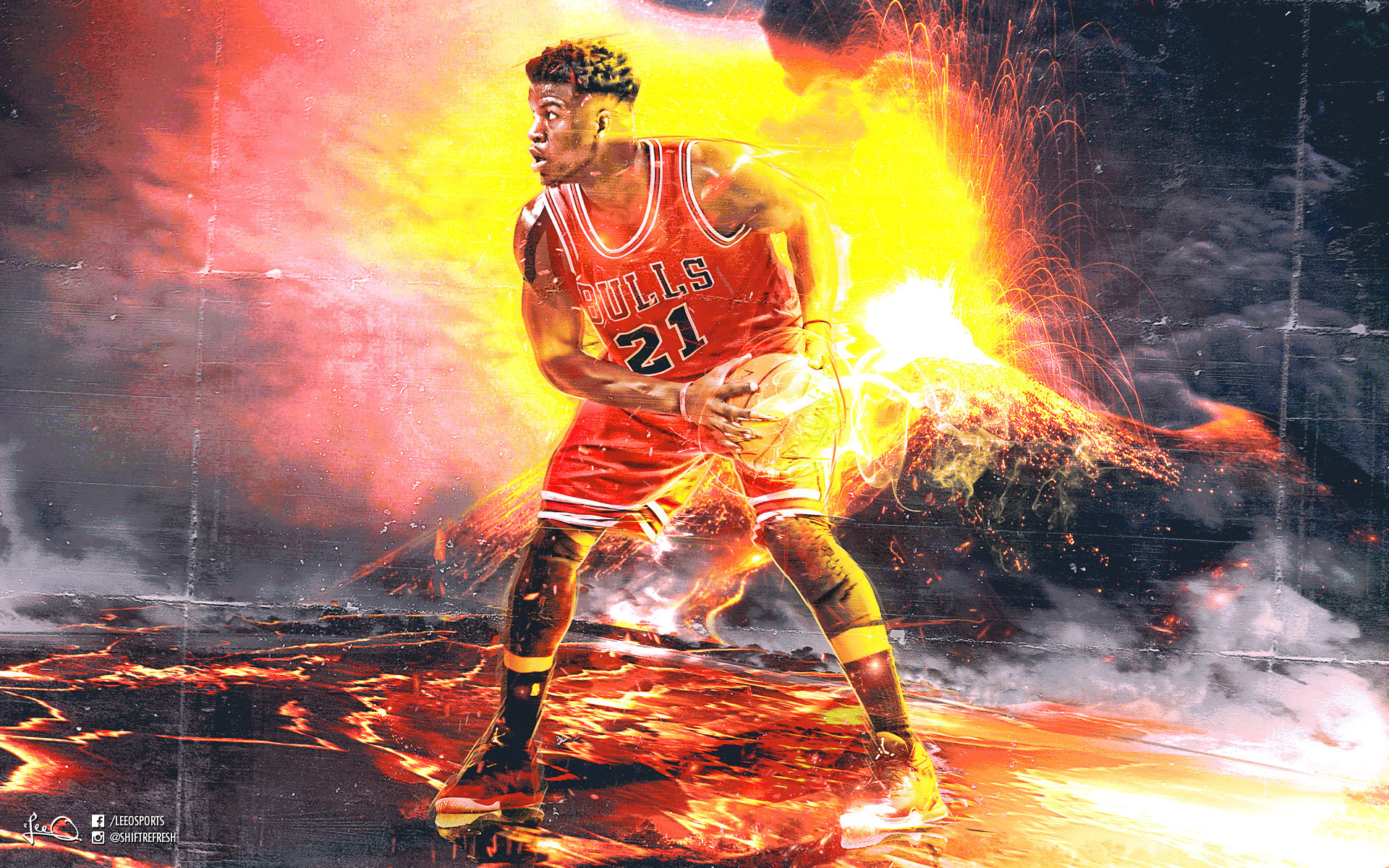 Jimmy Butler Chicago Bulls 2016 Wallpaper