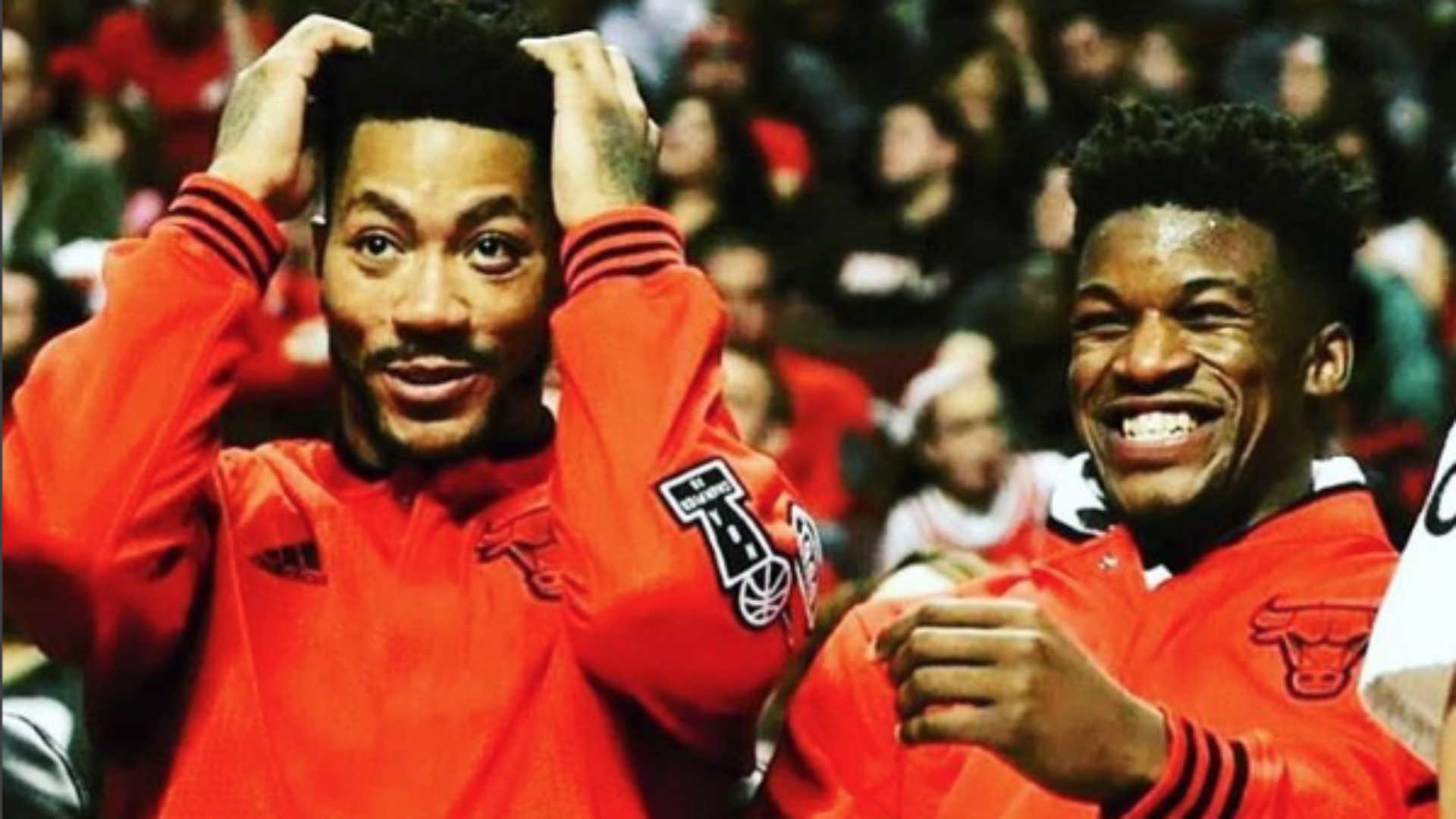Jimmy Butler posts heartfelt farewell to Derrick Rose after trade to Knicks  | NBA | Sporting News
